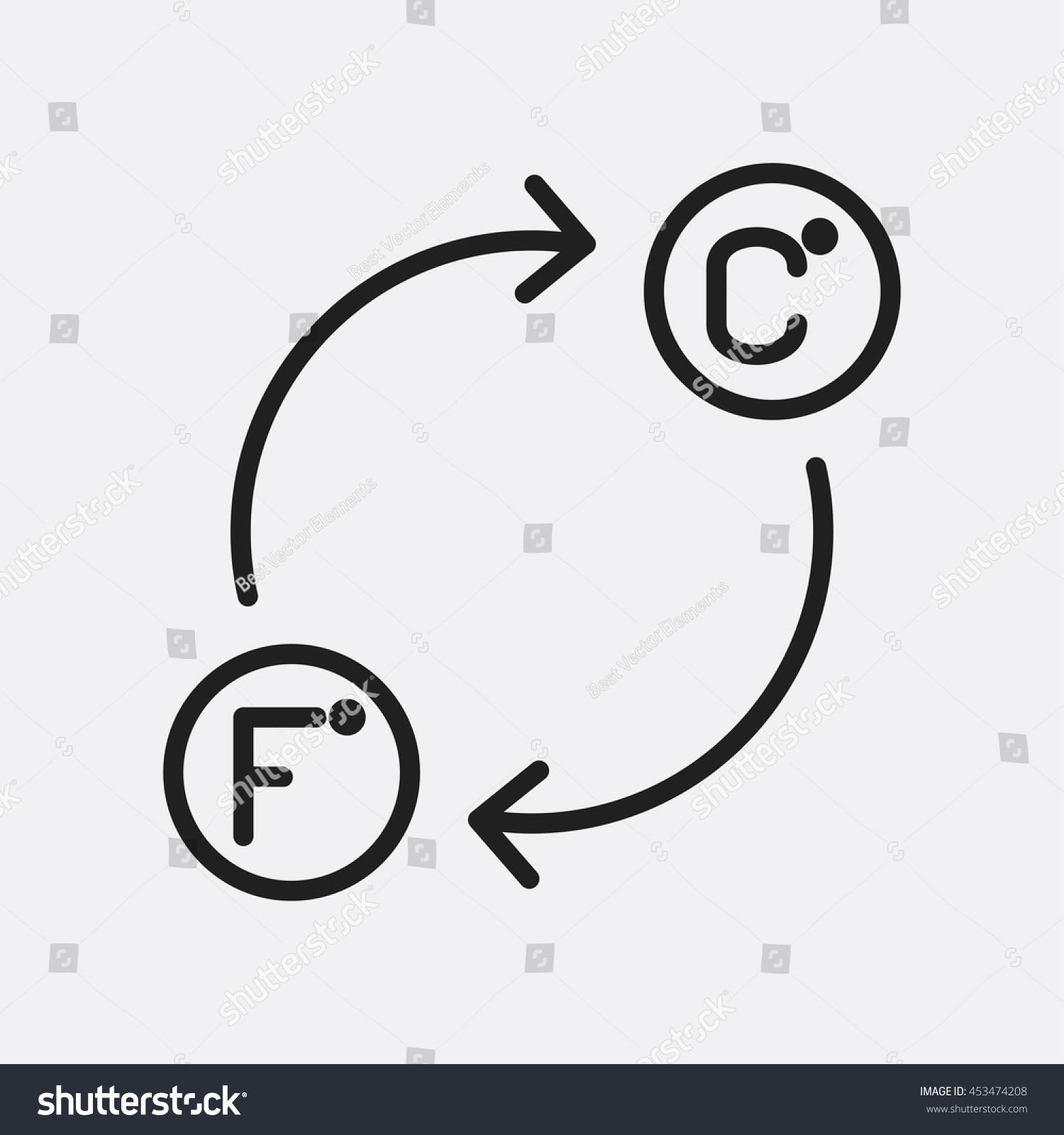 Celsius fahrenheit icon illustration isolated vector stock vector celsius and fahrenheit icon illustration isolated vector sign symbol biocorpaavc Choice Image