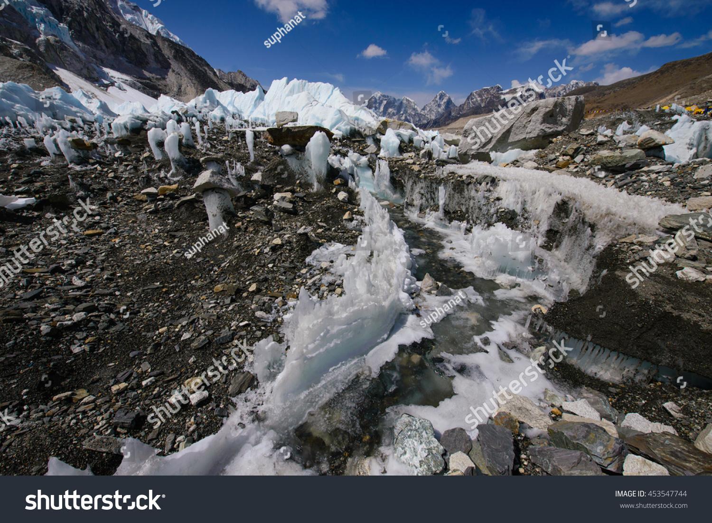 Everest Base Campnepal Taken Base Camp Stock Photo - Altitude here