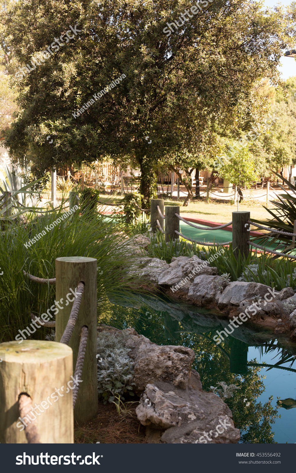 gardens and an artificial lake in Croatia   EZ Canvas