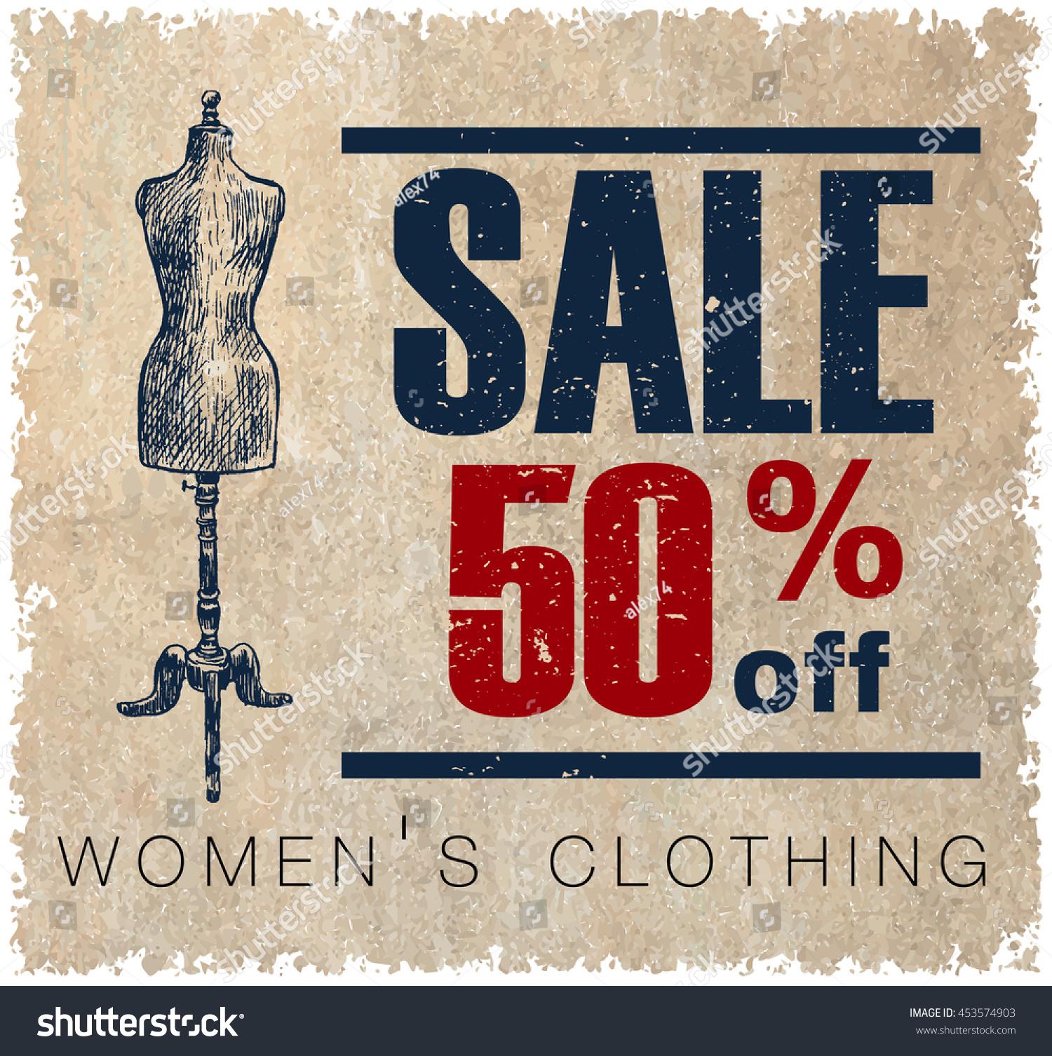Sale label for women s clothing stores mega sale badge vintage tags for premium quality