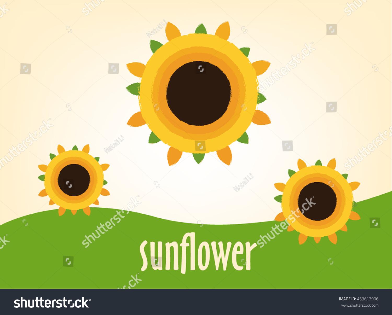 Logo Sunflower Yellowflower Sun Summer Warm Stock Vector 453613906