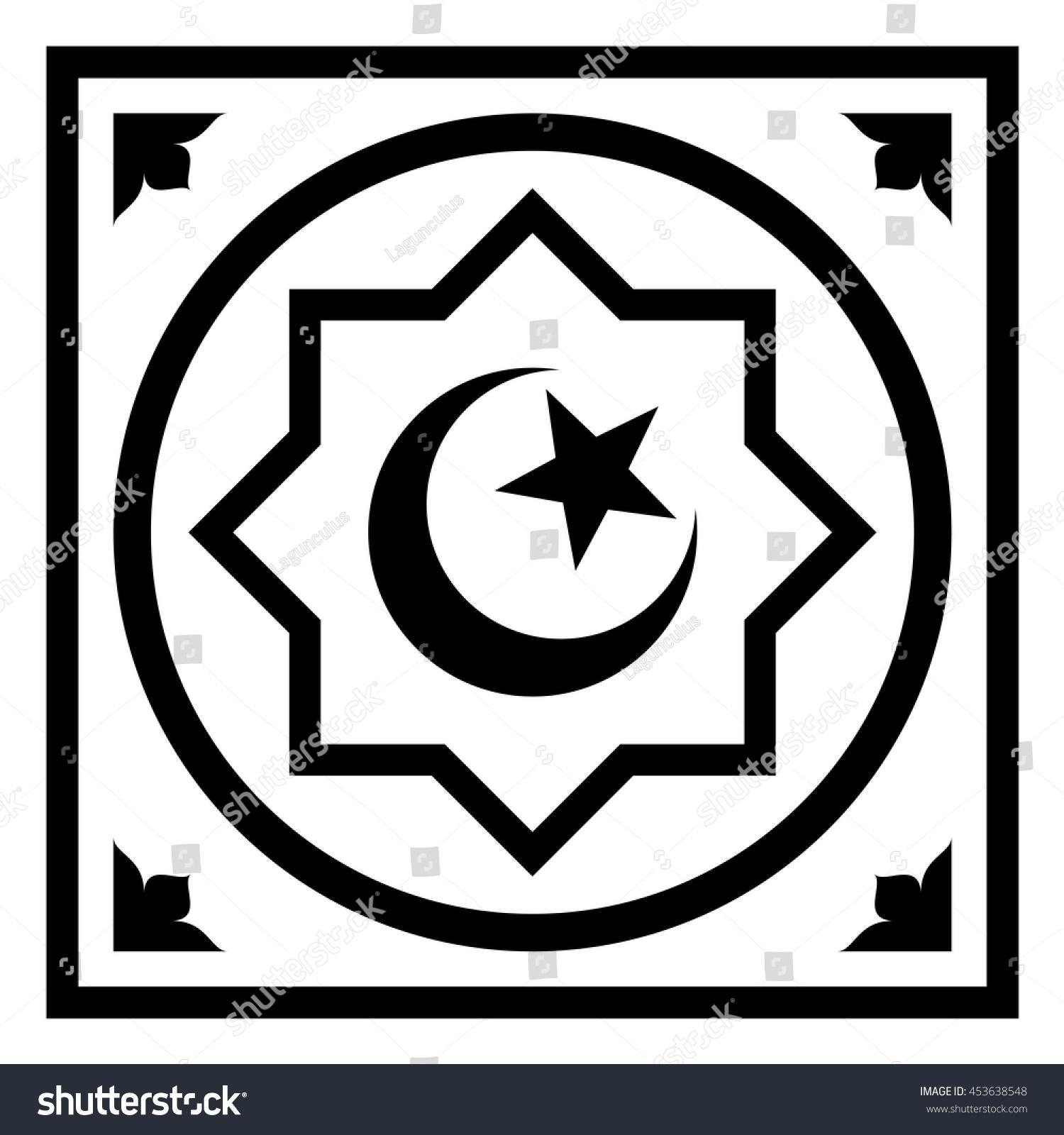 Symbol islam star crescent octagon flat stock vector 453638548 symbol of islam star and crescent in the octagon flat icon isolated vector illustration biocorpaavc Images