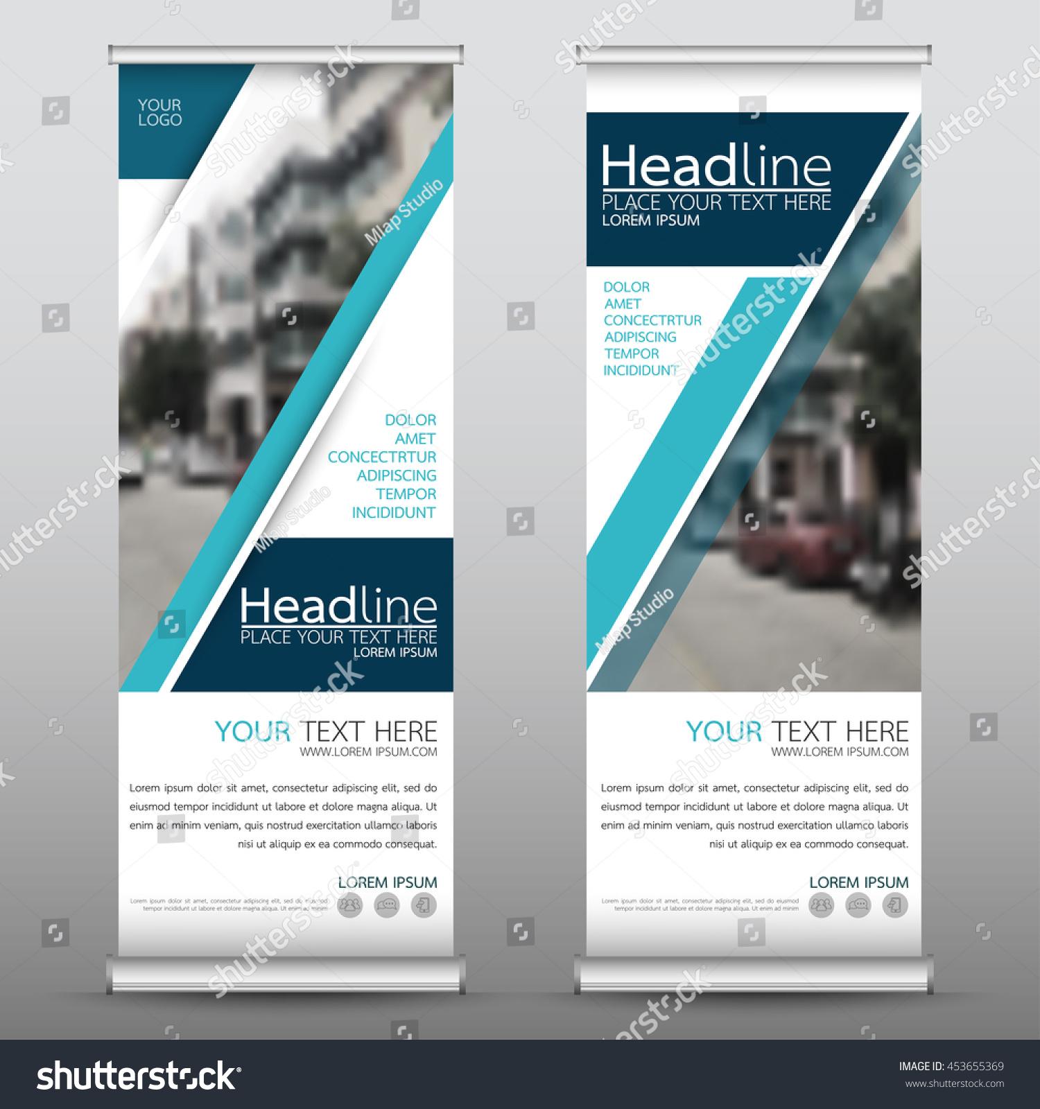 blue technology roll business banner design stock vector 453655369 shutterstock. Black Bedroom Furniture Sets. Home Design Ideas