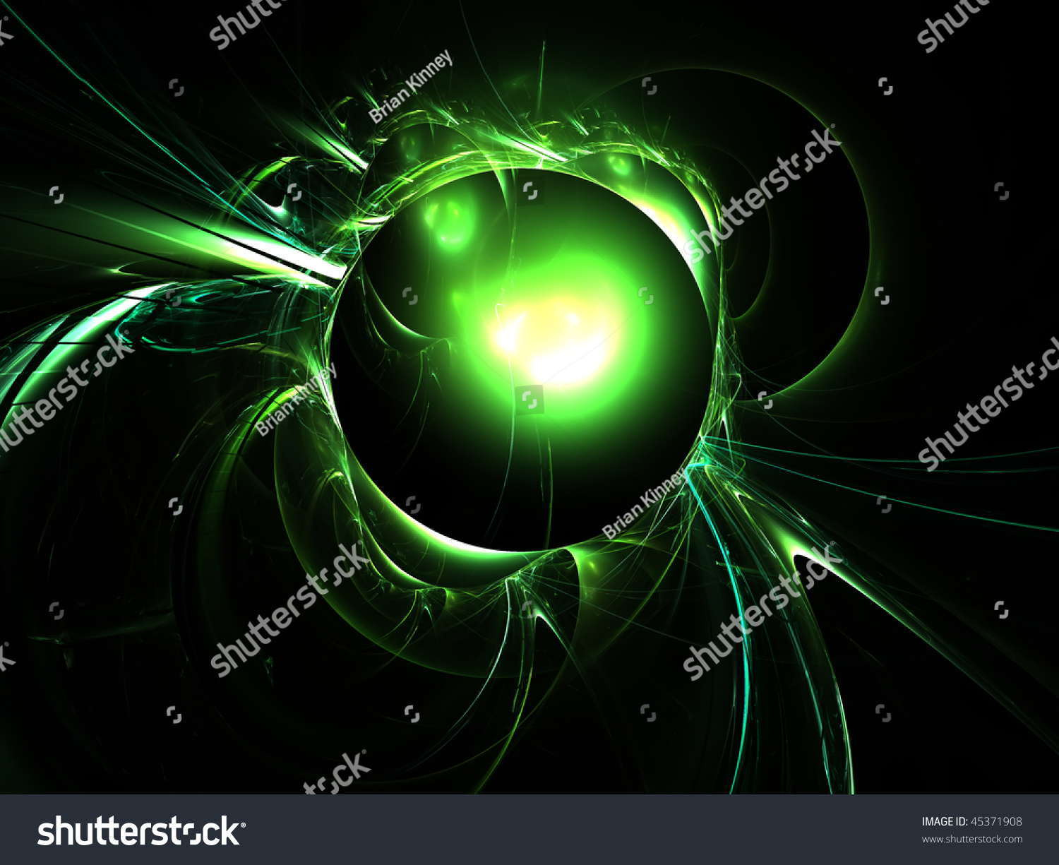 abstract art background green planet star stock illustration