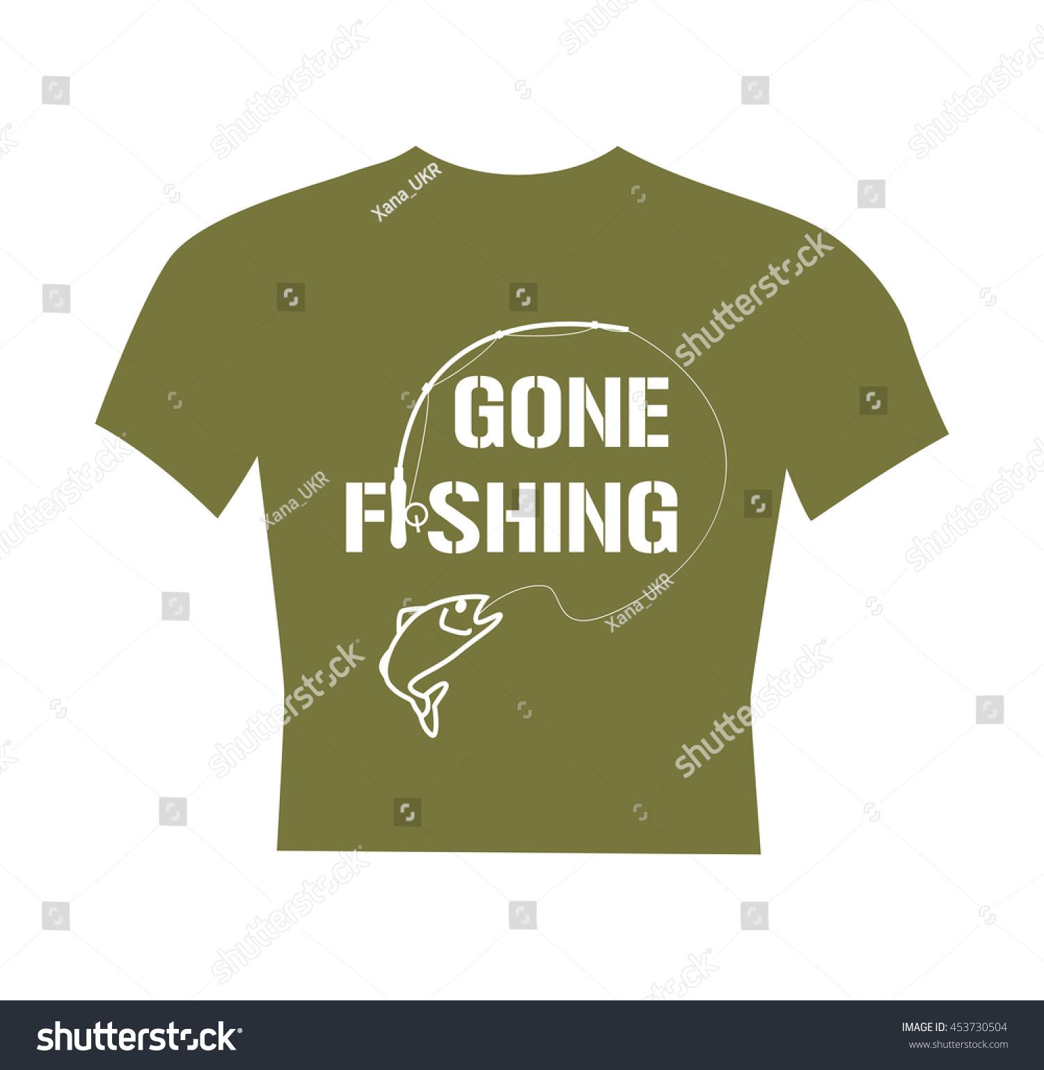 Tshirt gone fishing text fisherman clothes stock vector 453730504 fisherman clothes design flat vector illustration buycottarizona