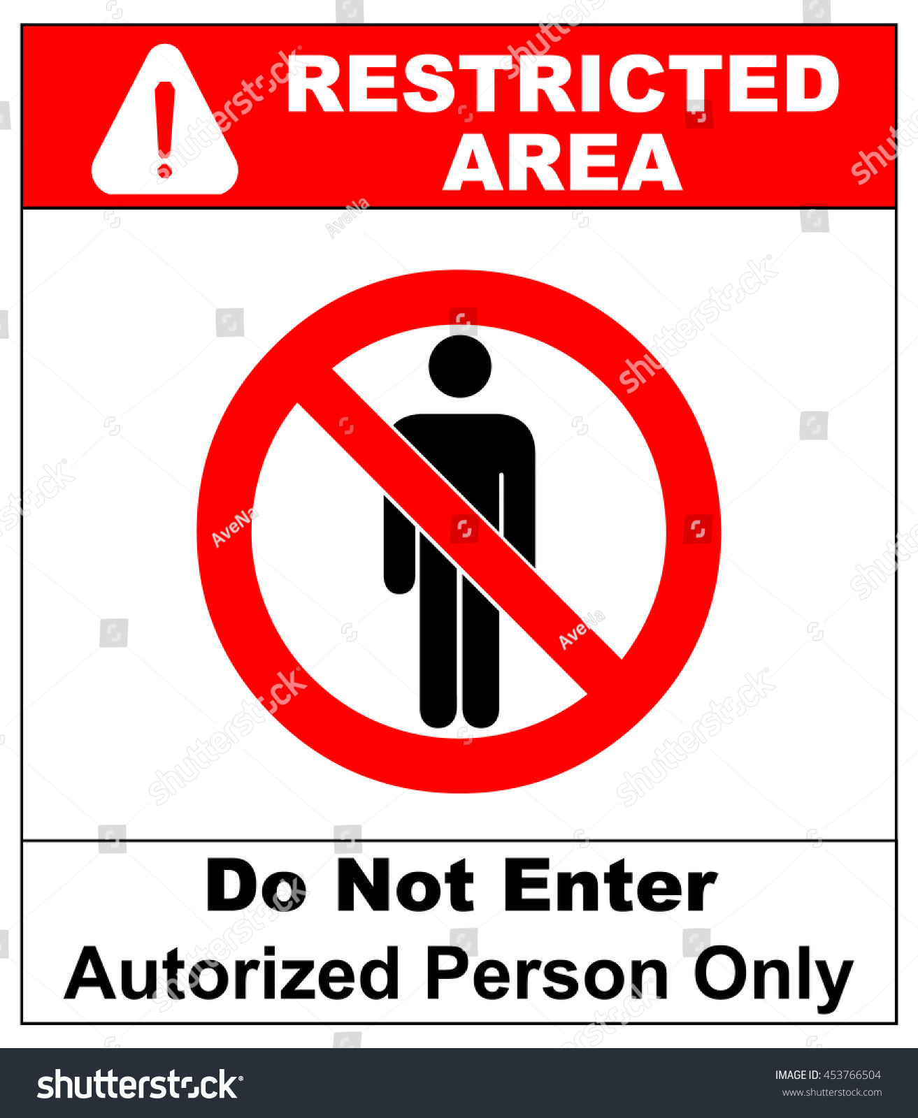 Vector Circle Prohibited Sign Restricted Area Stock Vector