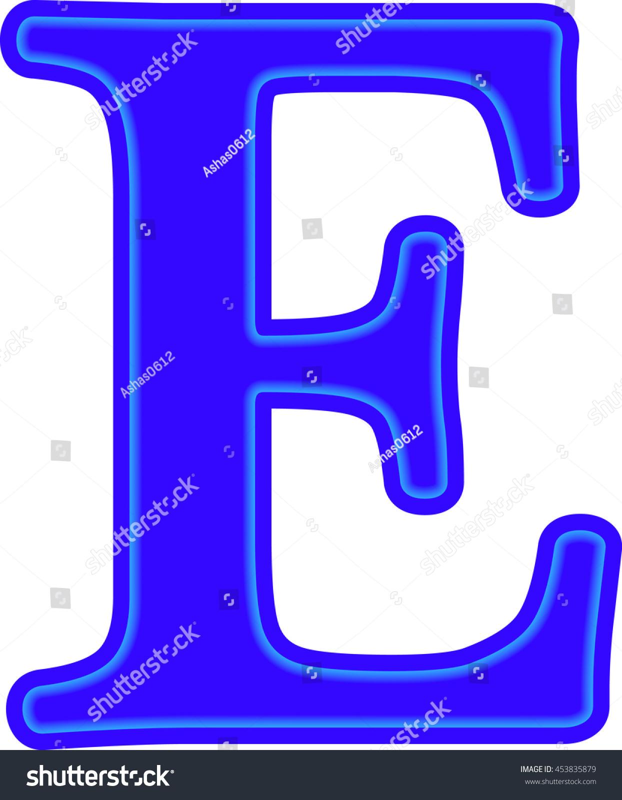 English alphabet education blue the letter e vector ez canvas id 453835879 altavistaventures Images