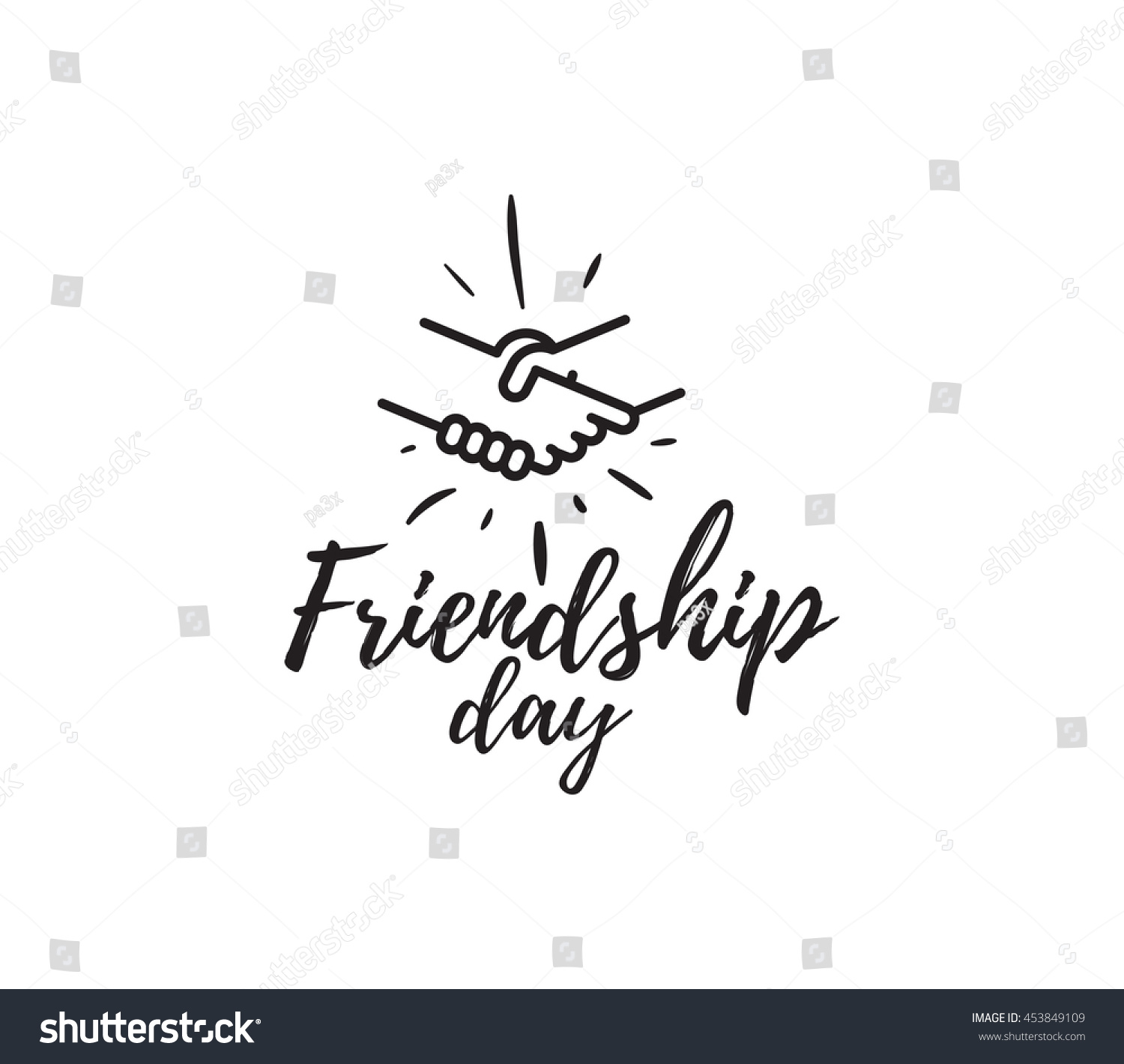 Happy Friendship Day Vector Typographic Design Stock Vector Royalty
