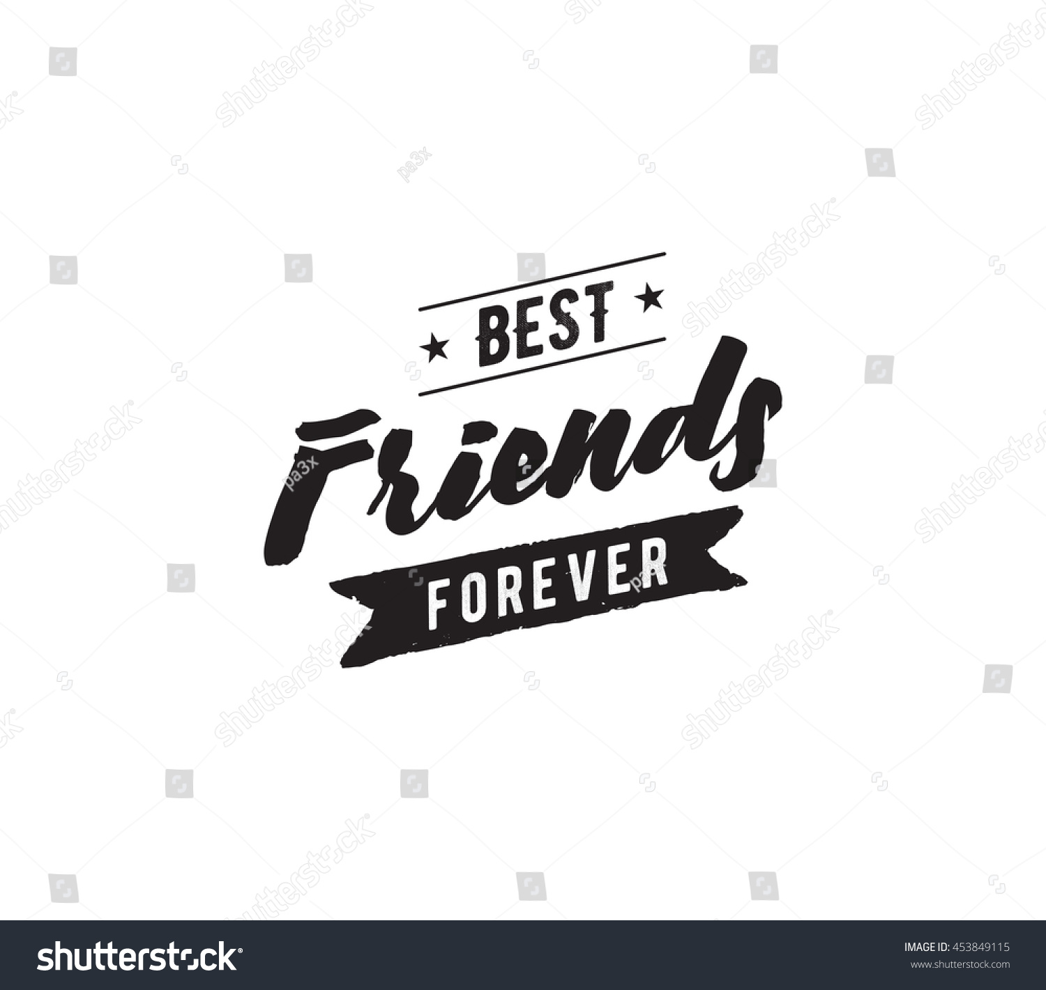 Happy Friendship Day Vector Typographic Design Inspirational Quote