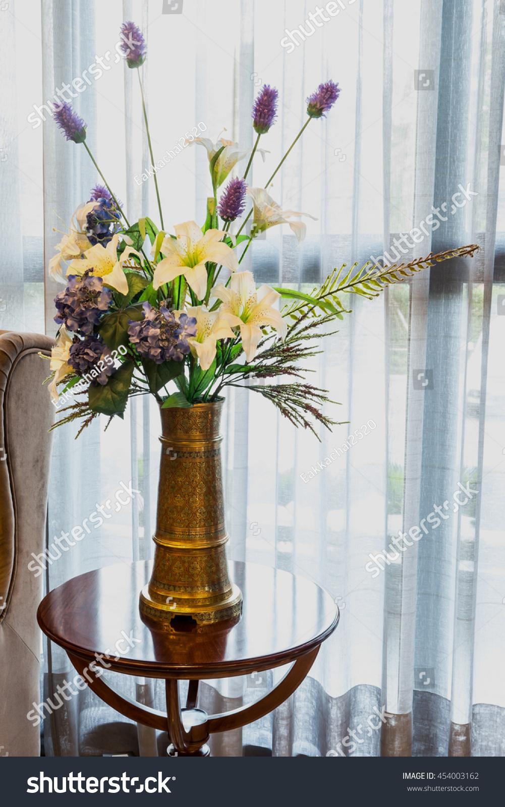 Put Flowers Vase Beautiful Stock Photo 454003162