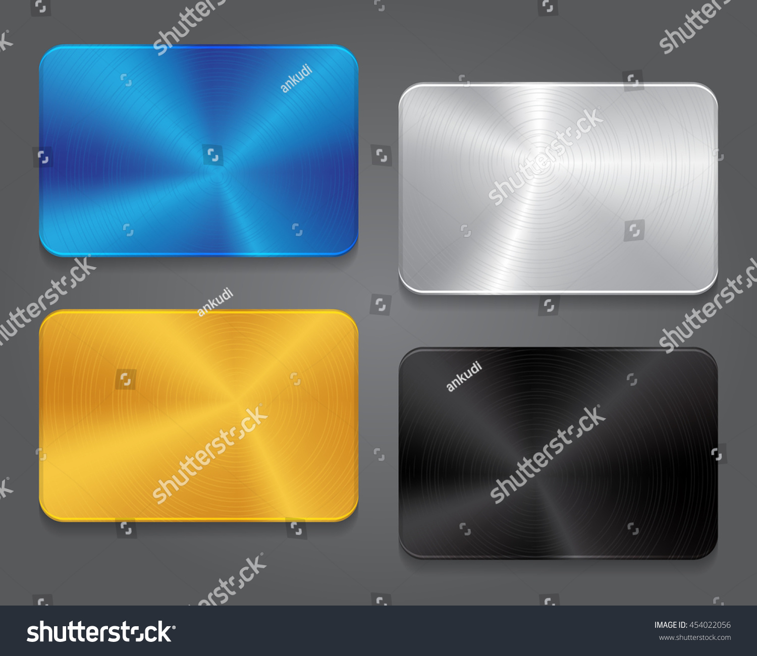 cards metal background blank card design stock vector