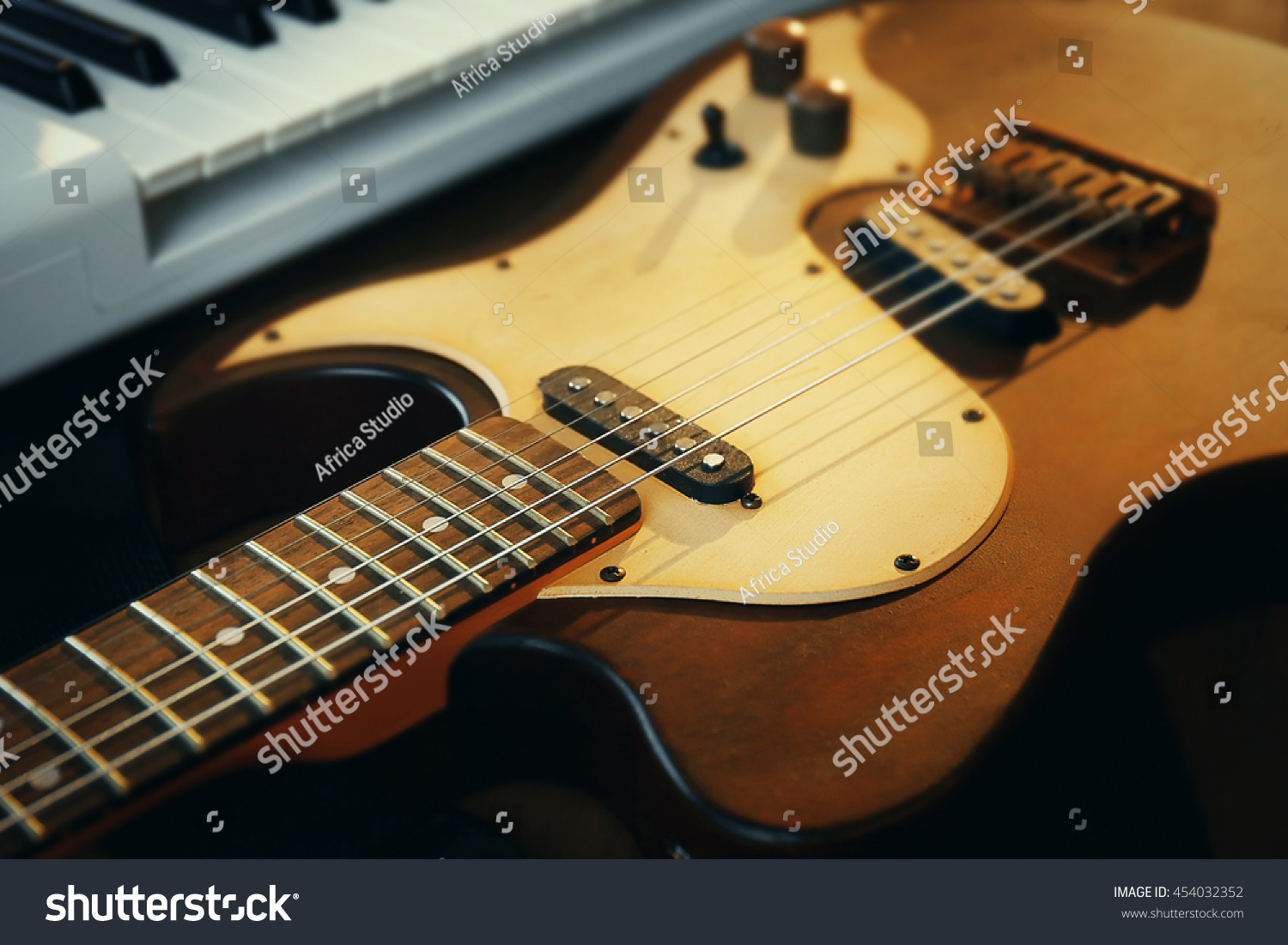 Electric Guitar Closeup Ez Canvas