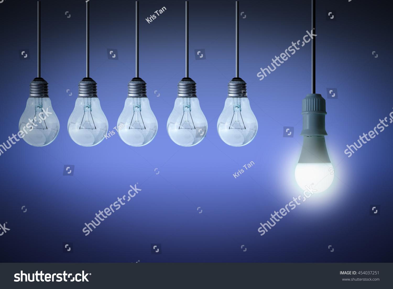 Different Unique Idea Concept Classic Light Stock Foto 454037251 ...