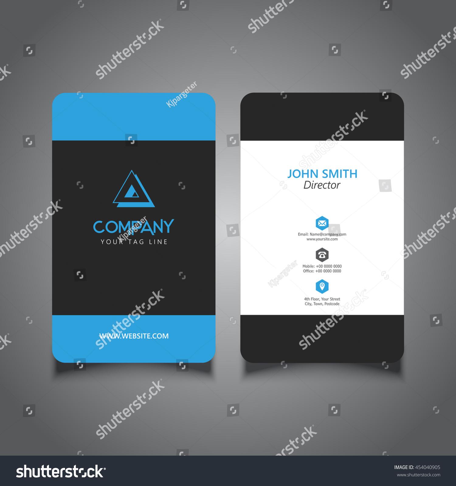 rounded corner business card modern design stock vector