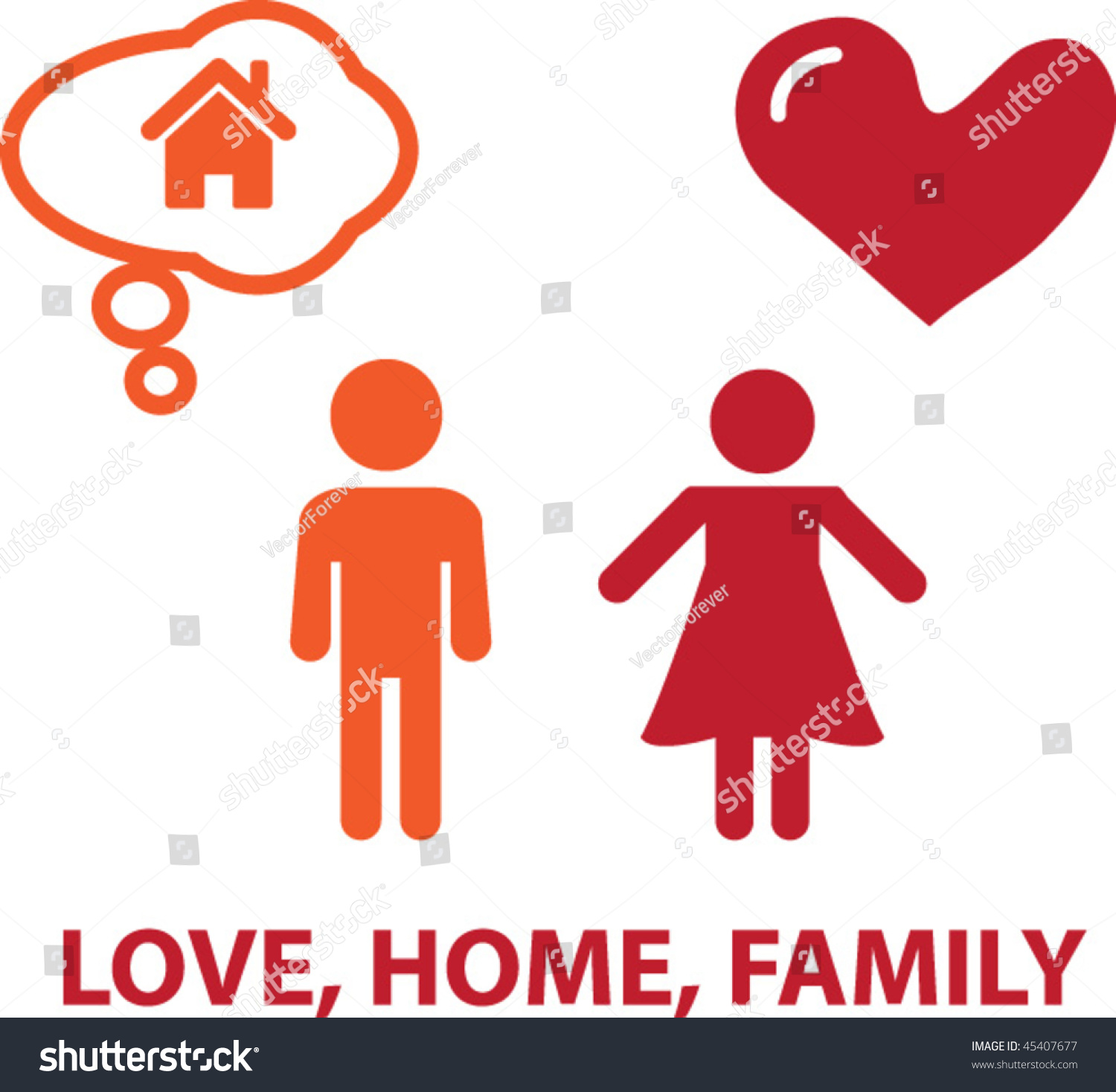 Love home family concept vector 45407677 shutterstock for Lovers home