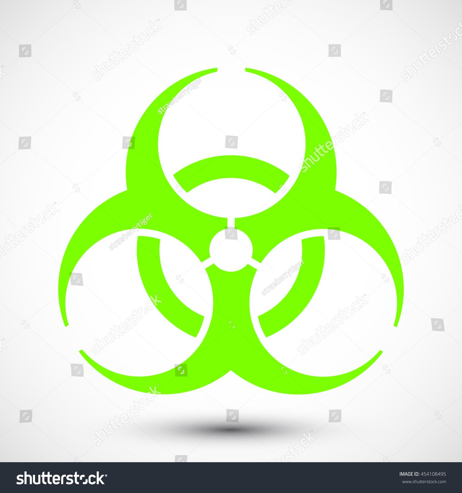 Biohazard Symbol On Background Illustration Biohazard Icon Stock