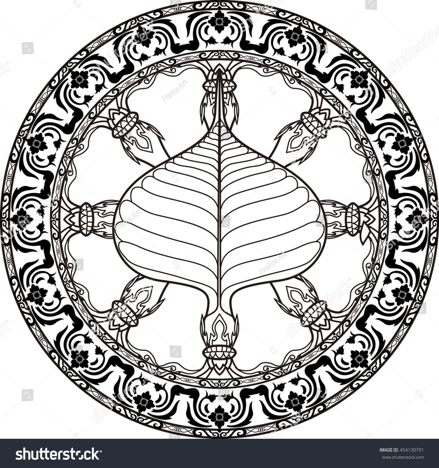 Dhamma Wheel Dharmachakra Icon Buddhism Symbol Stock Vector Royalty