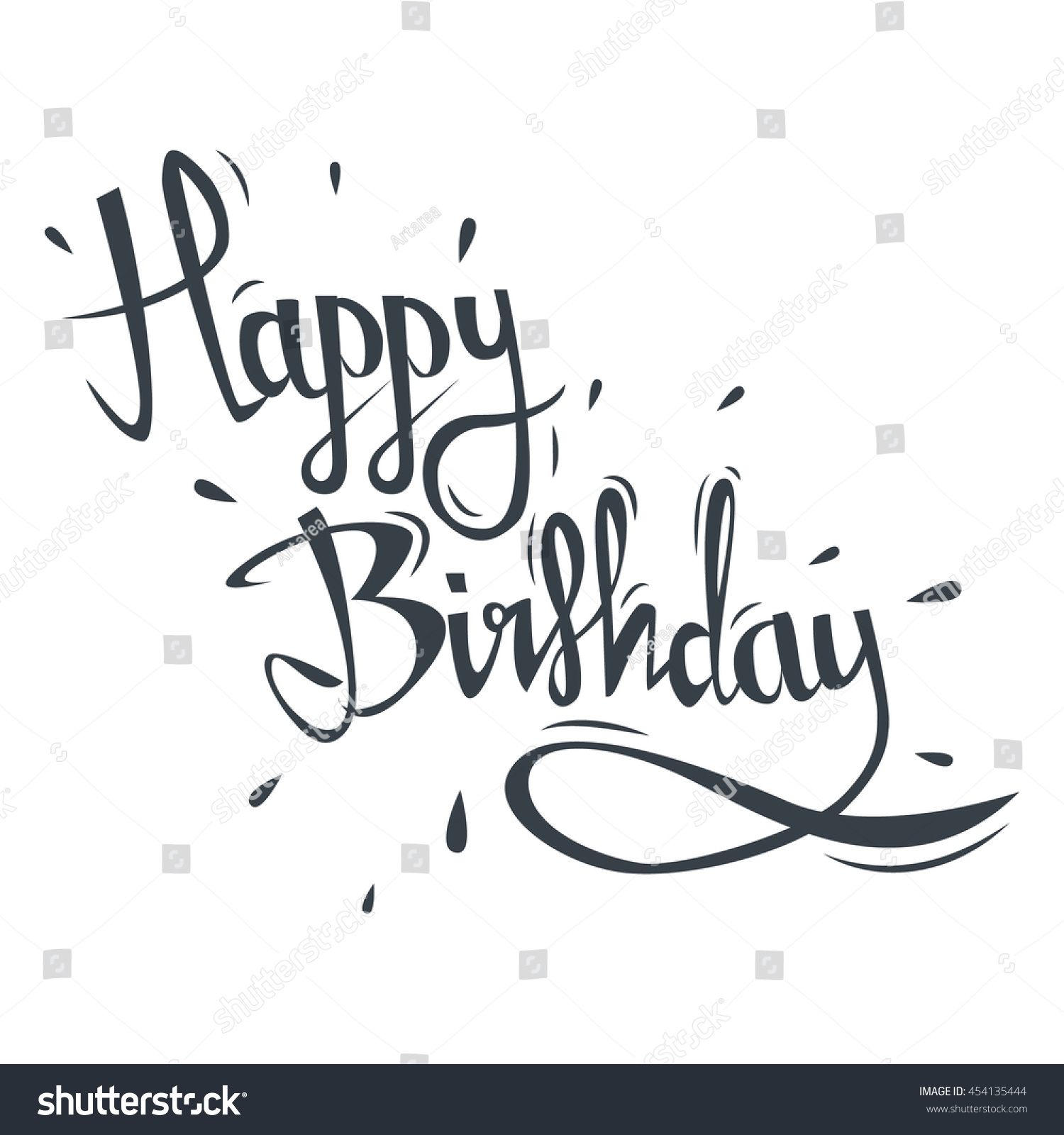 Happy birthday greeting card hand drawn stock vector