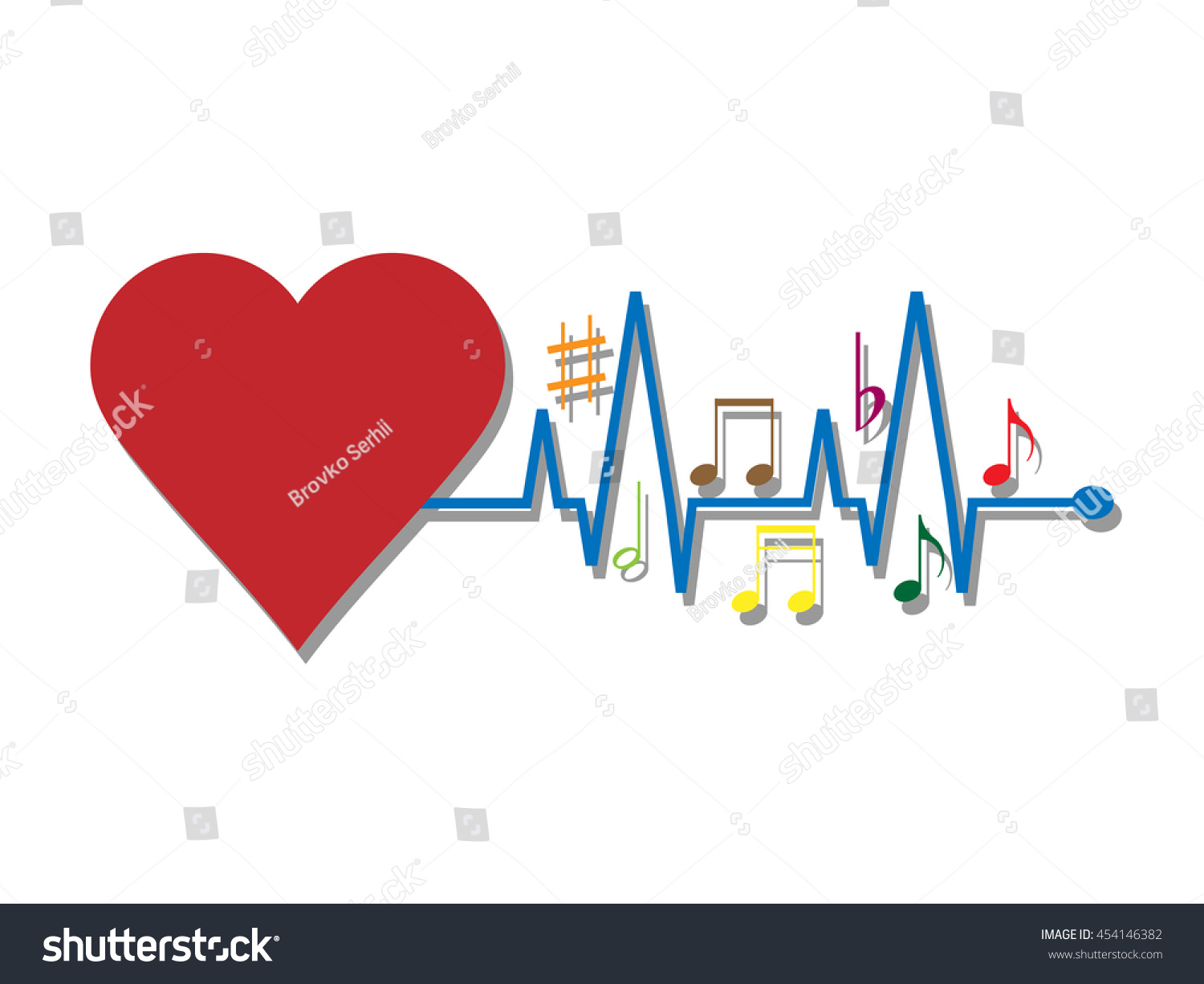 Music heart stock vector 454146382 shutterstock ccuart Image collections