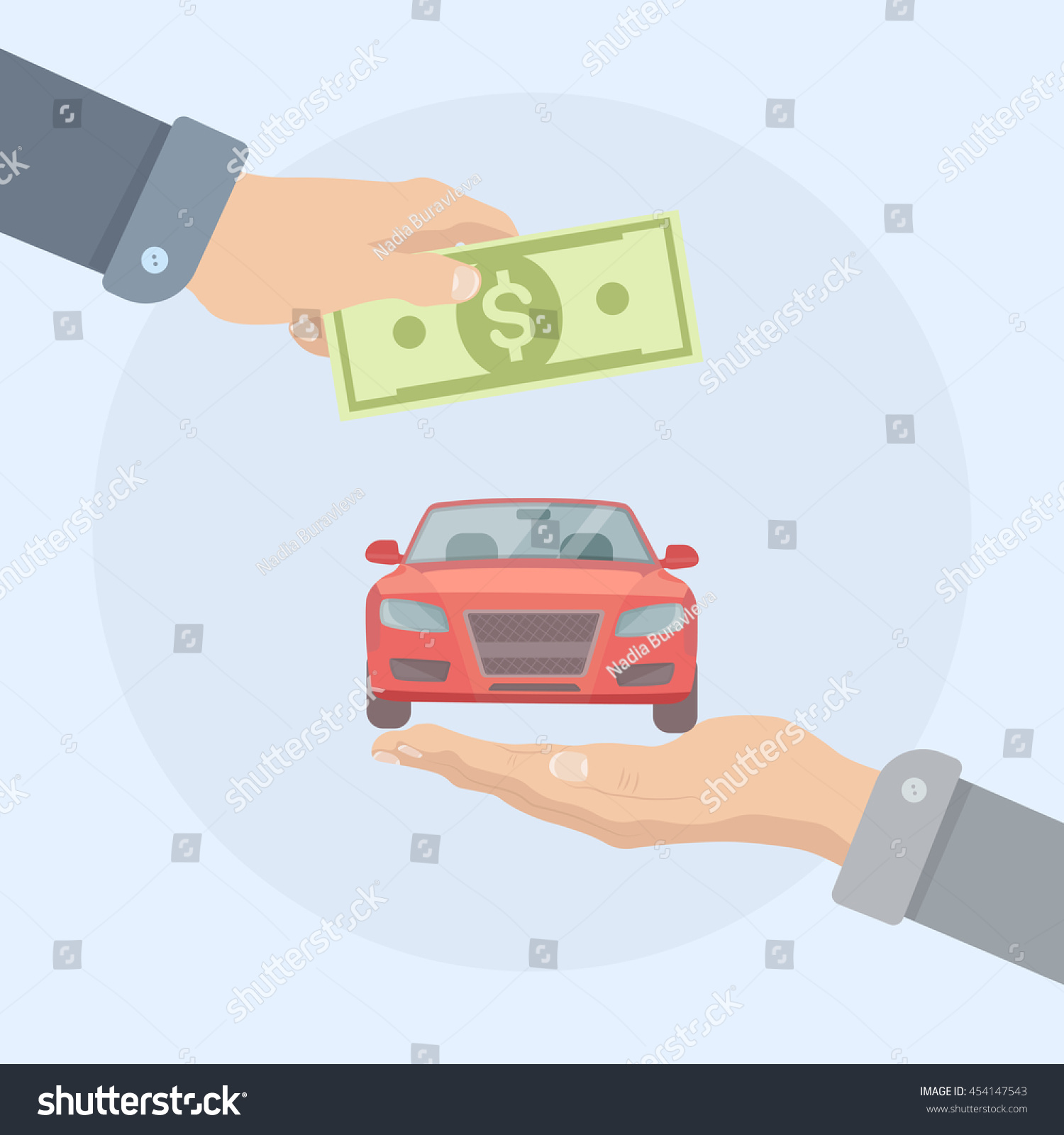 Buying Shopping New Car Automobile Dealership Stock Vector (2018 ...