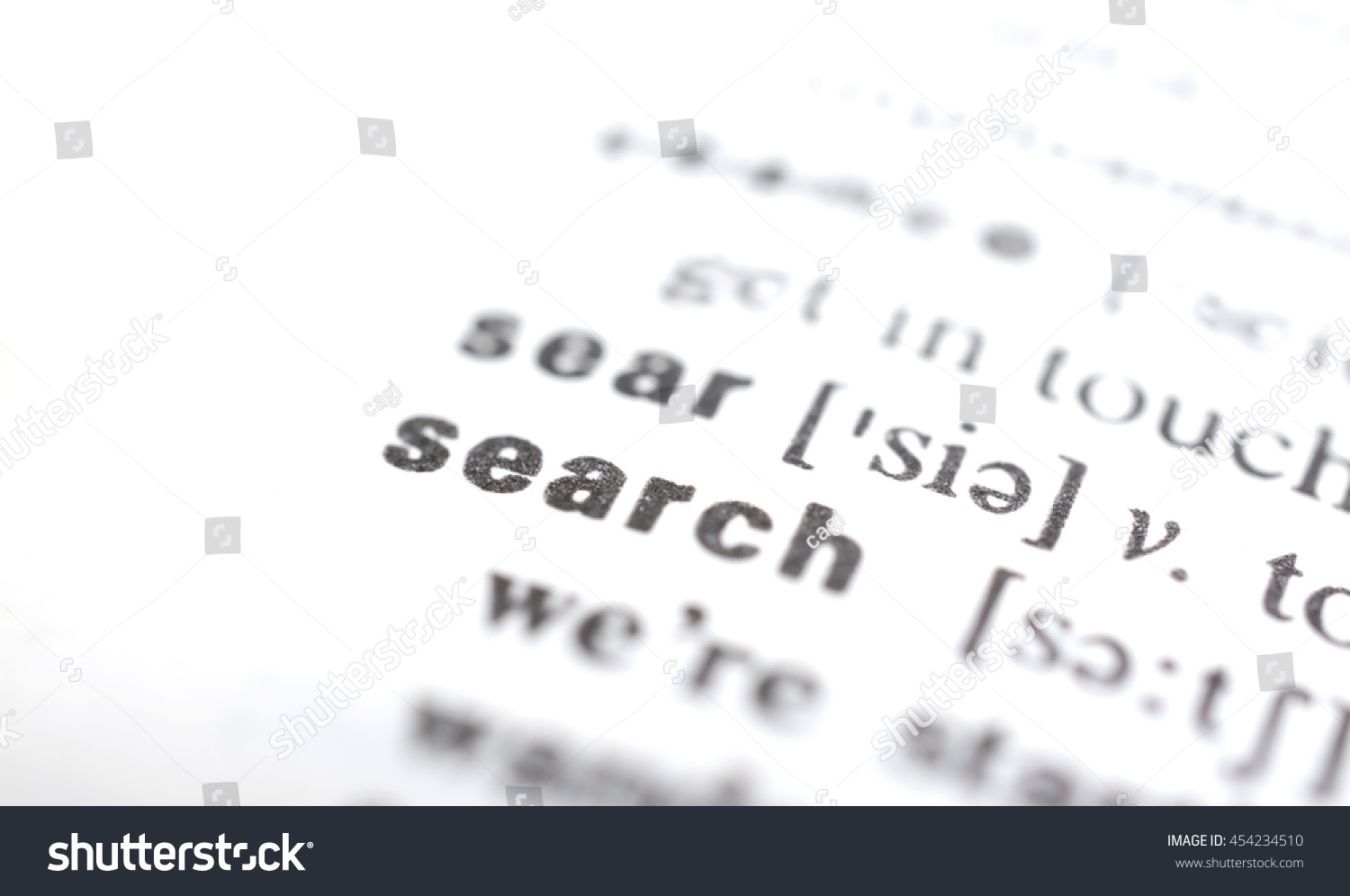 Close Shut Word Search Dictionary Stock Photo (Edit Now) 454234510