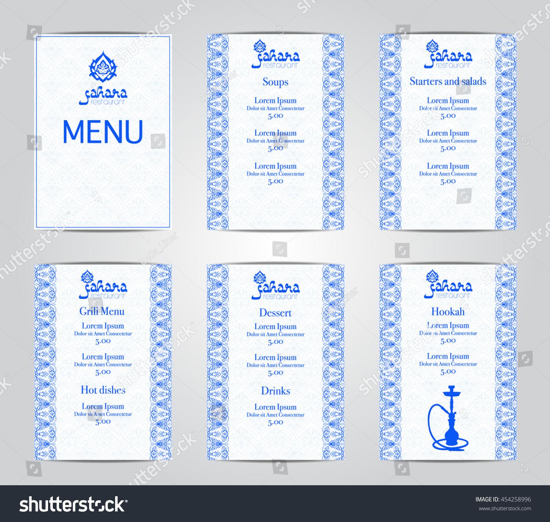 Vector Illustration Menu Card Template Design Stock Vector