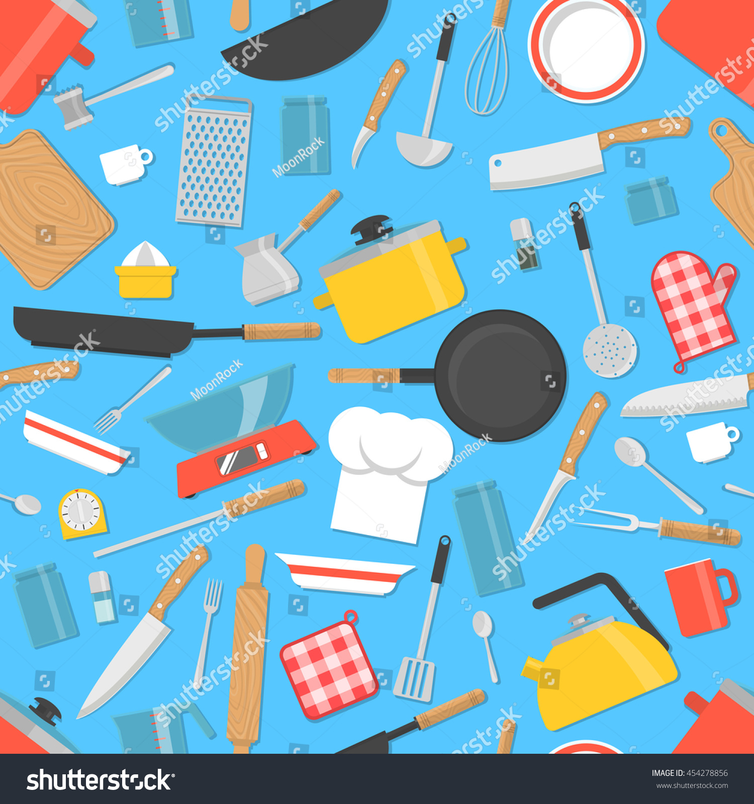 Kitchen Utensils Background kitchen tools seamless pattern cooking utensils stock vector