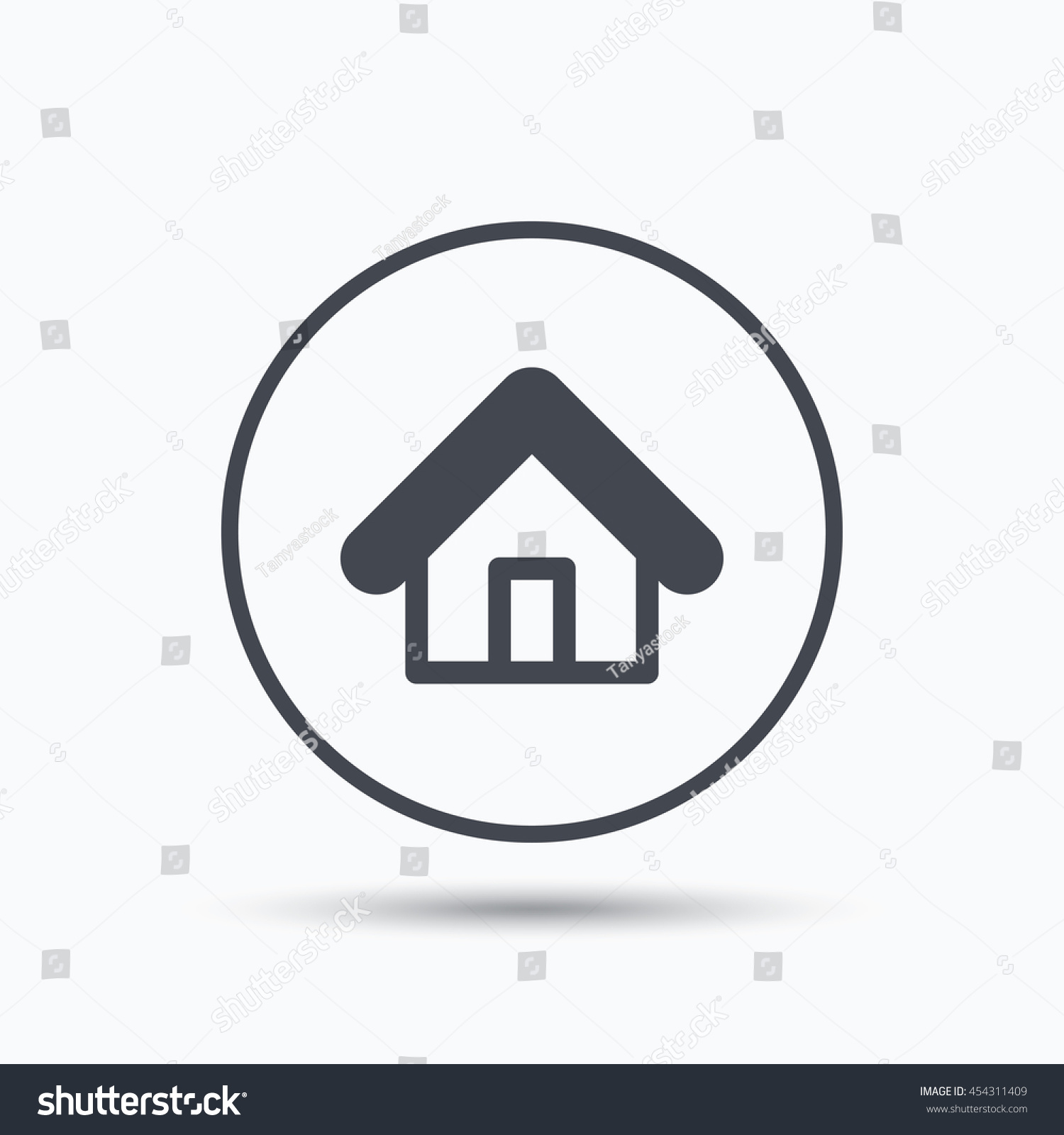 Home icon house building symbol real stock vector 454311409 home icon house building symbol real estate construction circle button with flat web biocorpaavc Image collections