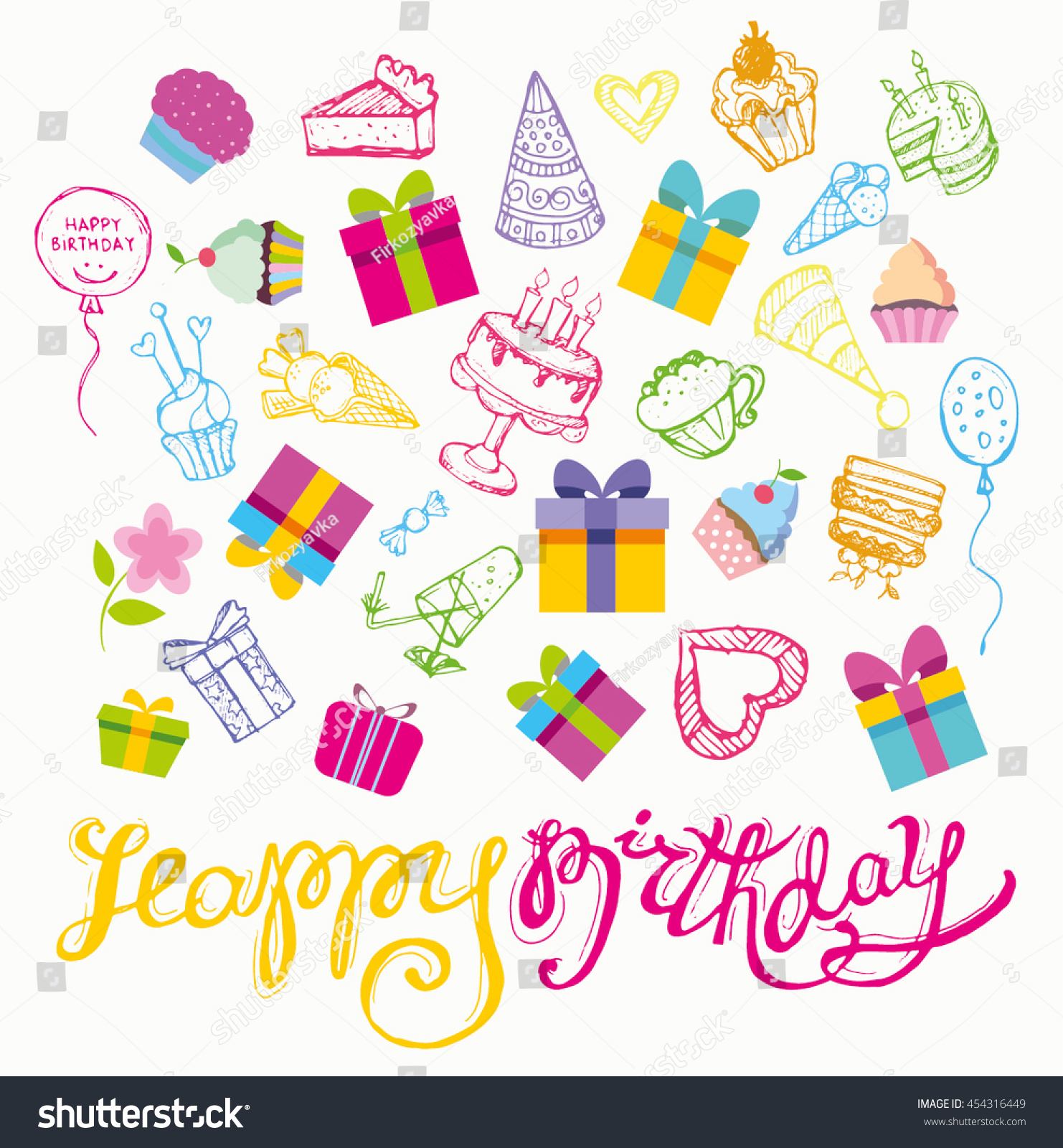 Happy Birthday Vector Banner Vector Background Stock