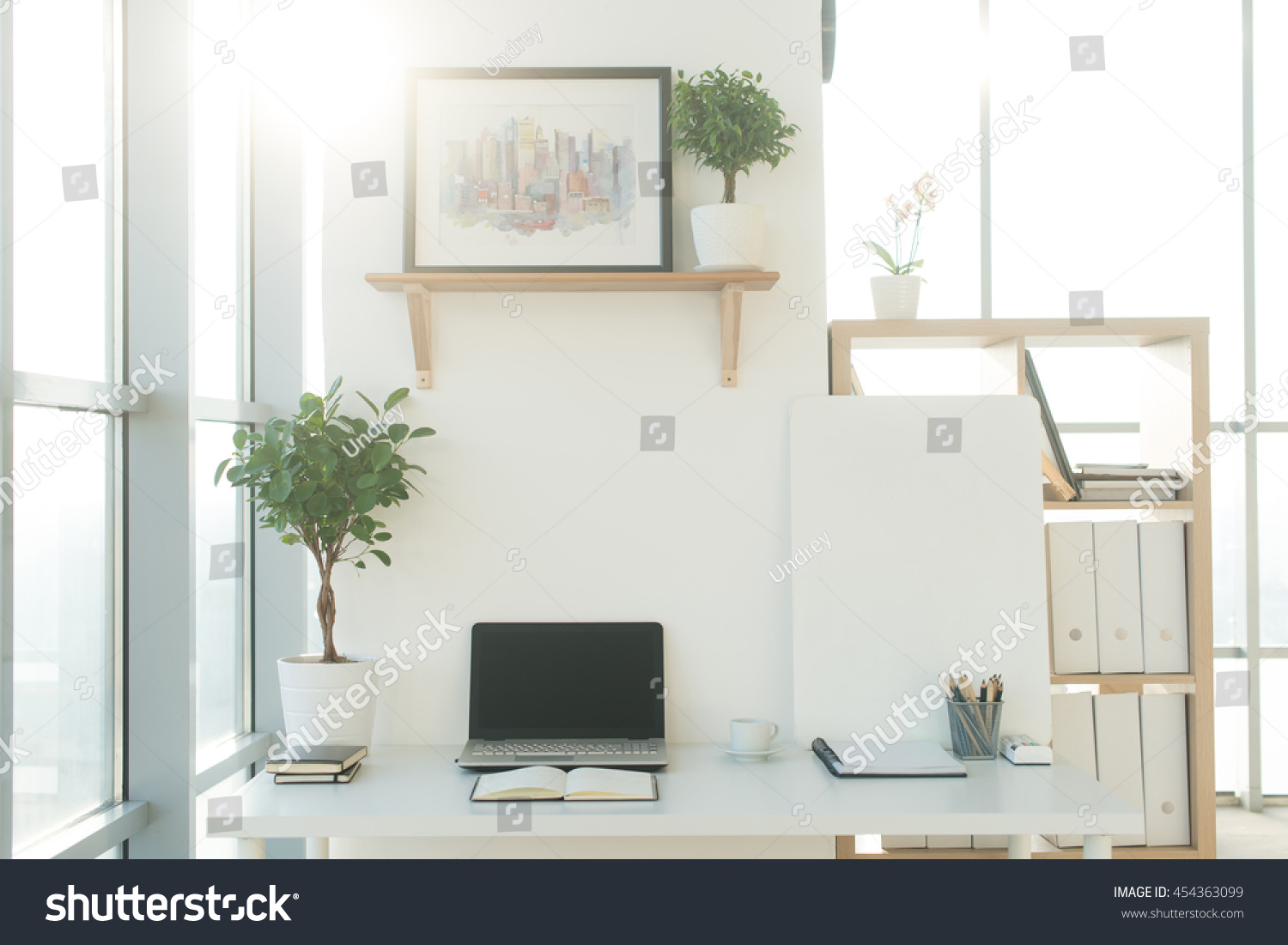 Front View Picture Studio Workplace Blank Stock Photo (Safe to Use ...