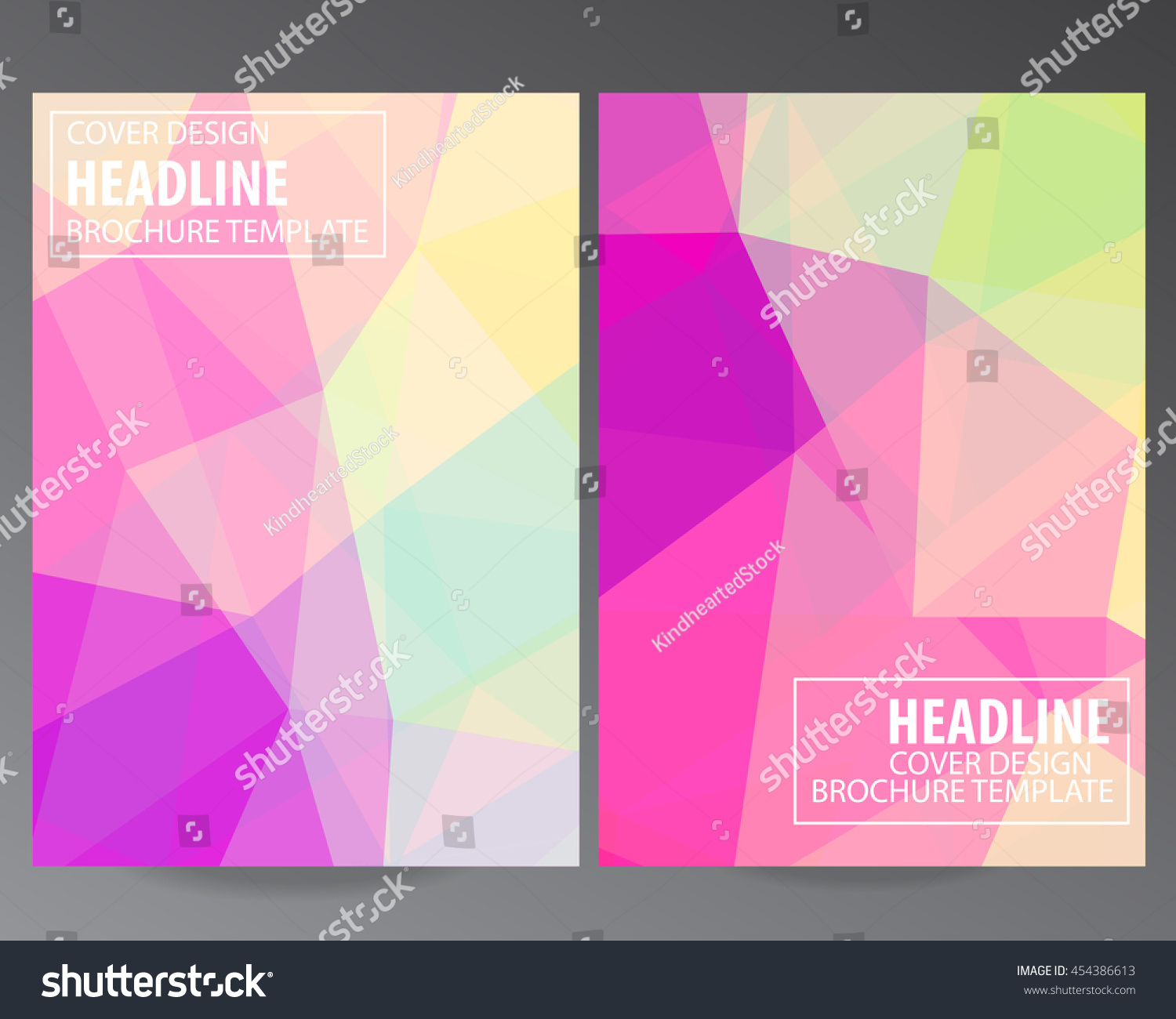colorful brochure design - abstract colorful vector modern brochure flyer stock