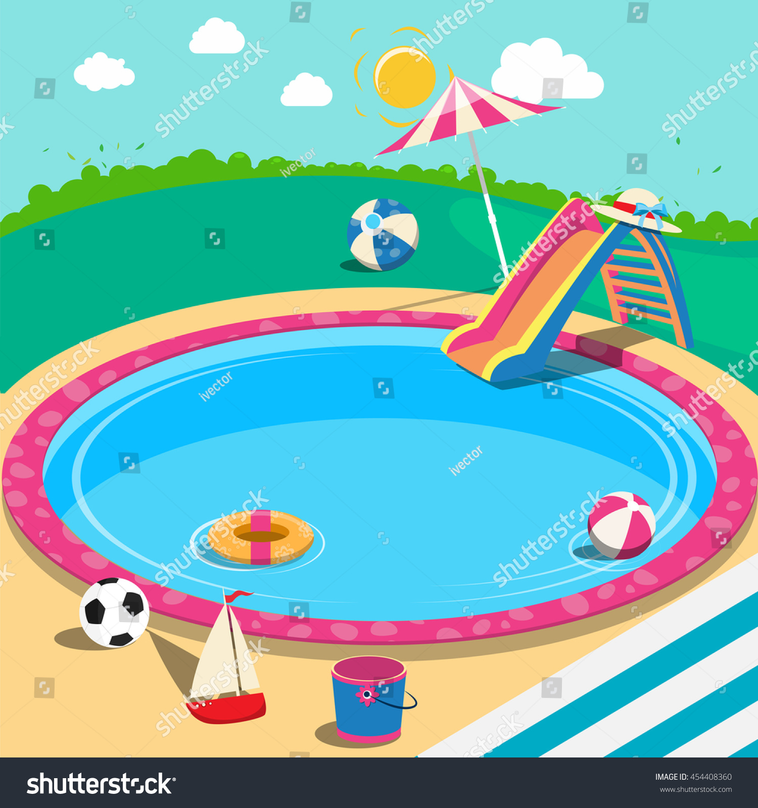 summer wallpaper swimming vector - photo #13