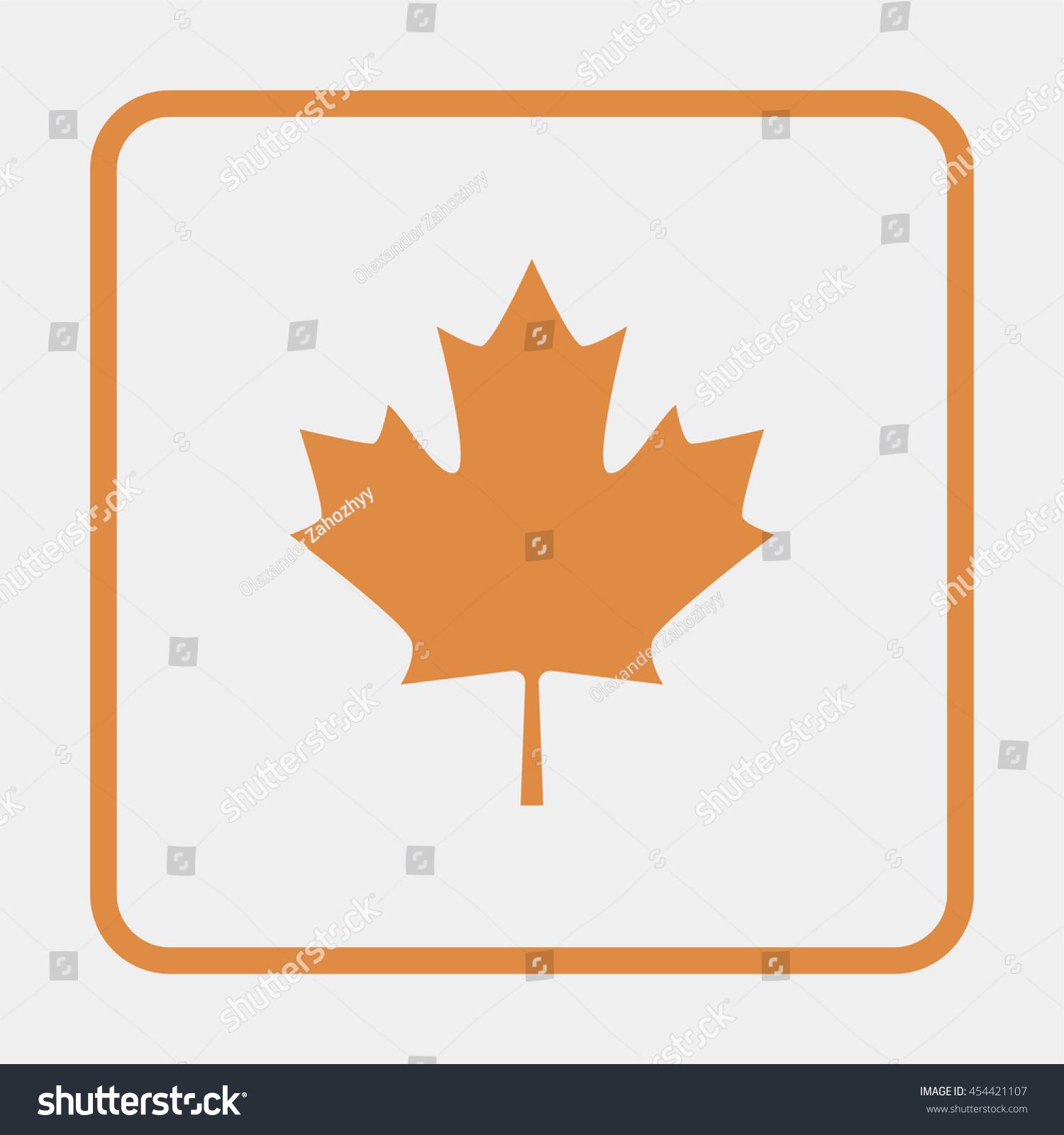 Maple Leaf Symbol Canada Vectores En Stock 454421107 - Shutterstock