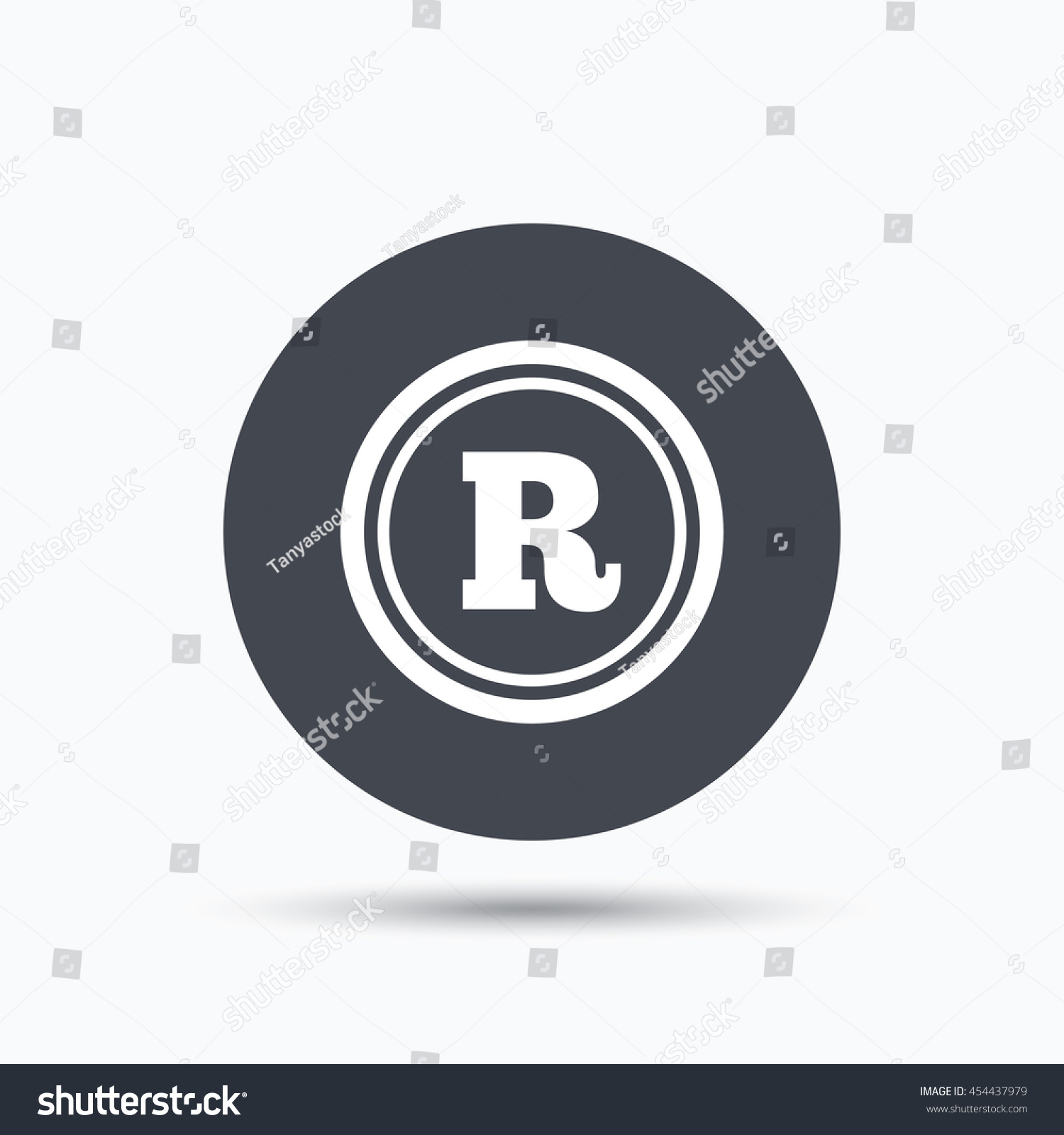 Registered Trademark Icon Intellectual Work Protection Stock Vector