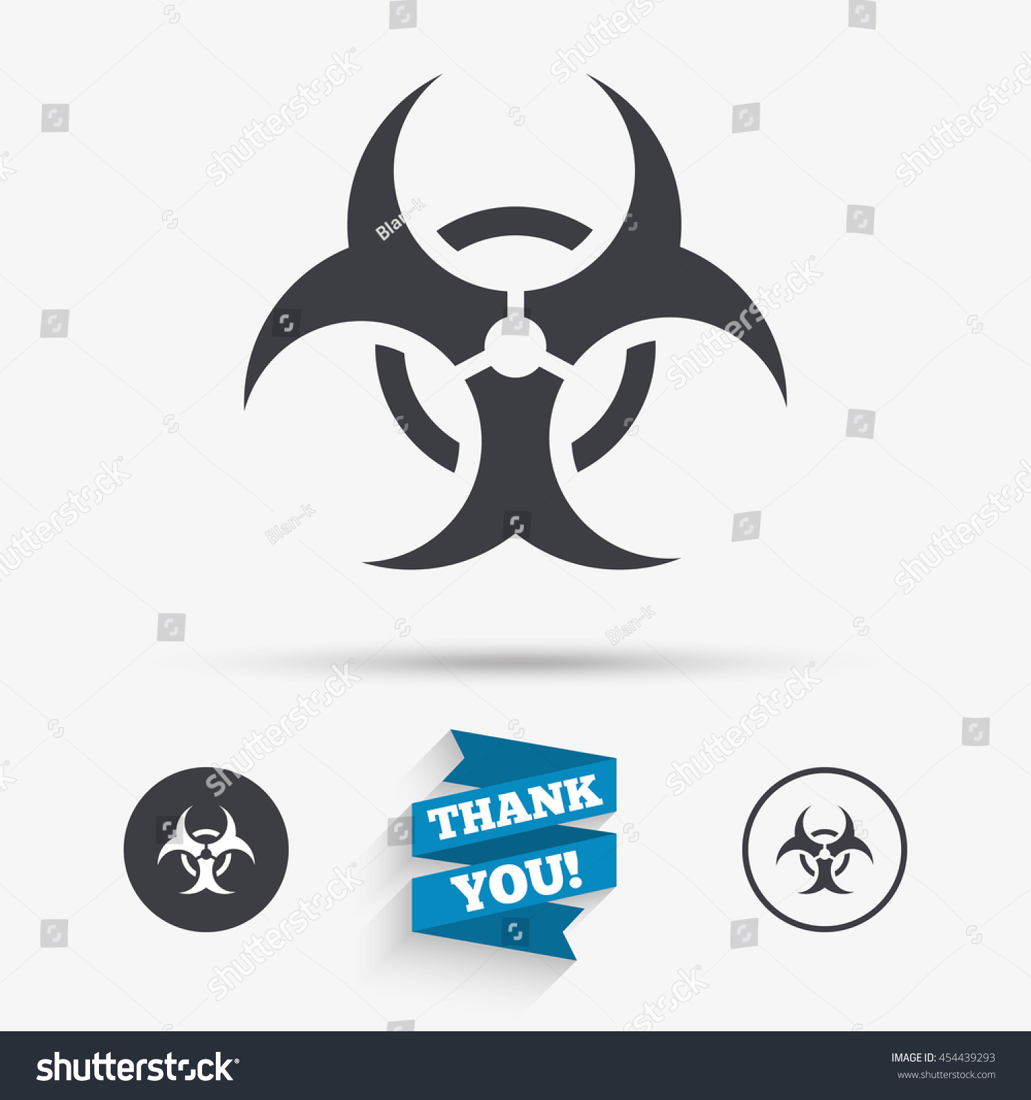 Biohazard Sign Icon Danger Symbol Flat Stock Vector Royalty Free
