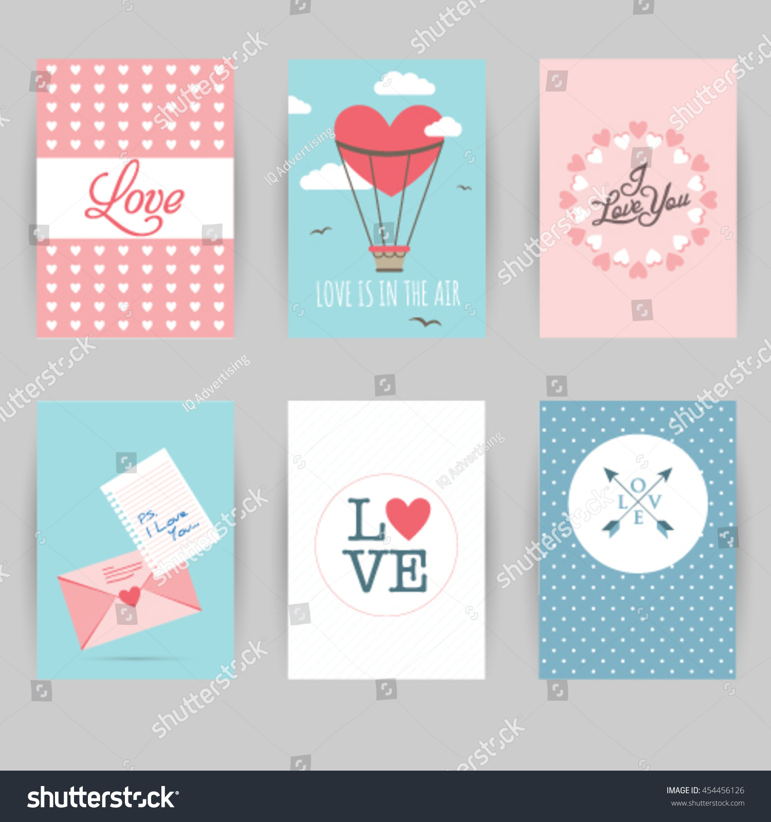Greeting Card Banner Love Invitation Card Stock Vector Royalty Free