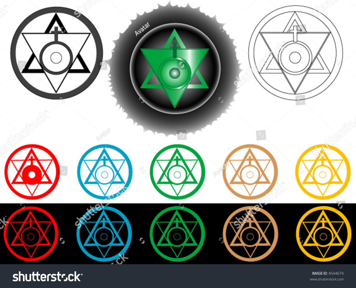 Symbol art form union water fire stock vector 4544674 shutterstock the symbol of art in the form of union of water and fire buycottarizona
