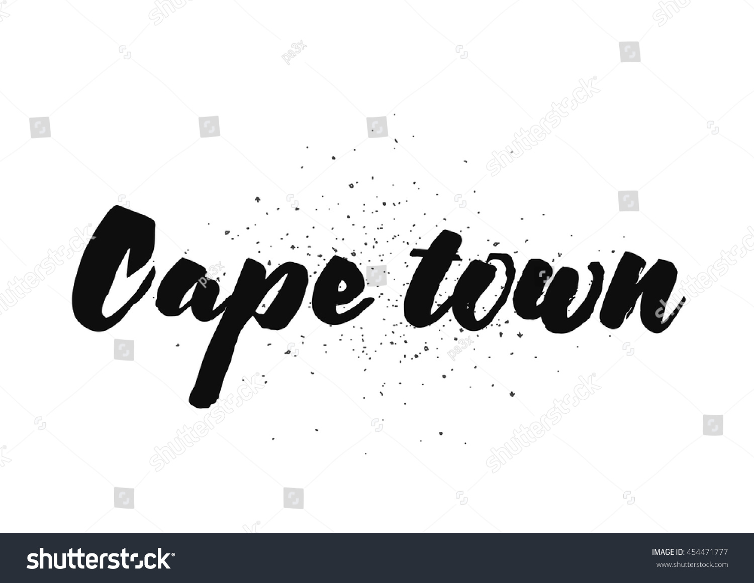 Cape Town South Africa Capital City Stock Vector 454471777