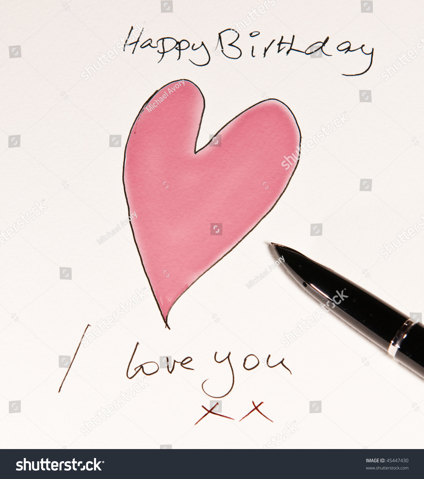 handmade romantic birthday card stock photo   shutterstock, Birthday card