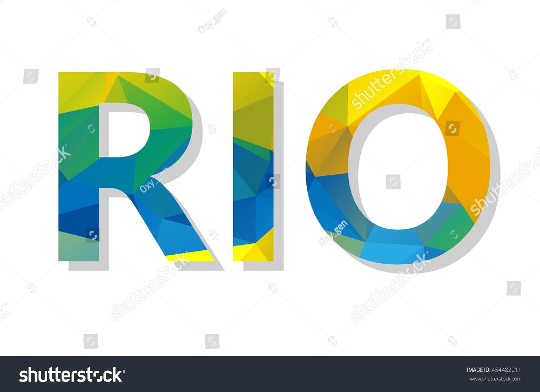 Colorful rio de janeiro brazil sign stock vector 454482211 colorful rio de janeiro brazil sign or symbol with brazilian flag colors vector biocorpaavc
