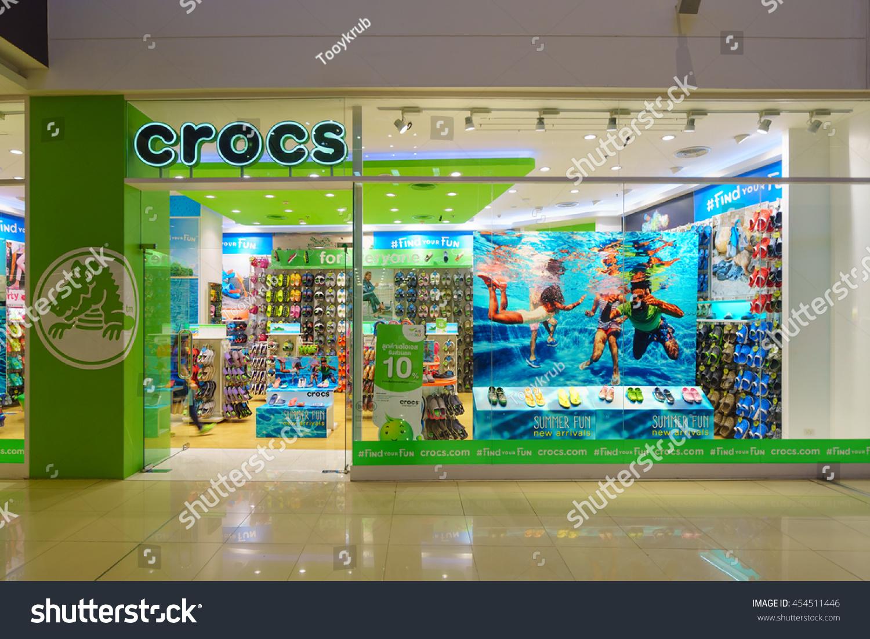 ef20621d6 BANGKOK JUN 26 Crocs Shop Mega Stock Photo (Edit Now) 454511446 ...