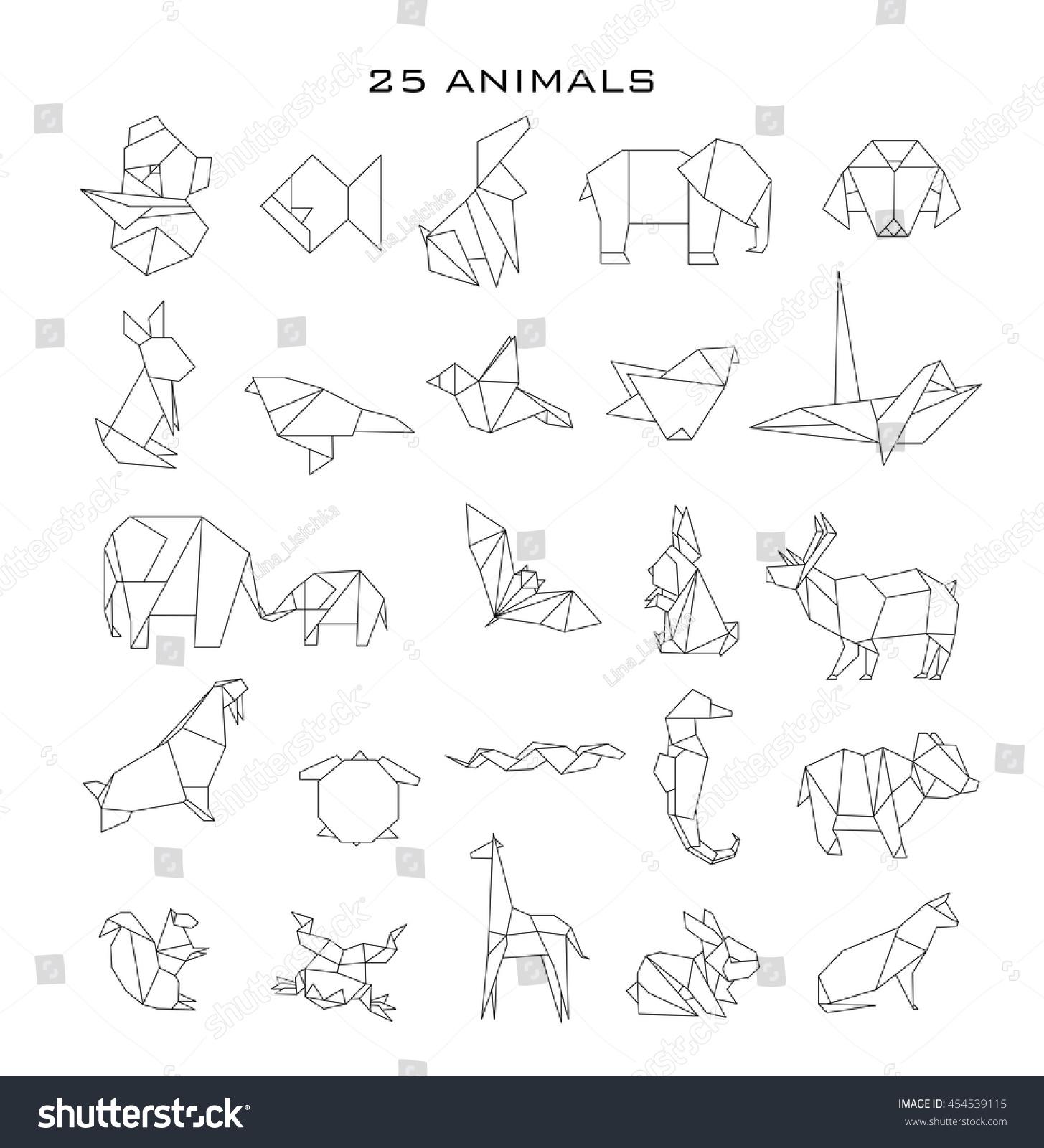 Geometric Animals Vector Stock Vector 454539115 - Shutterstock