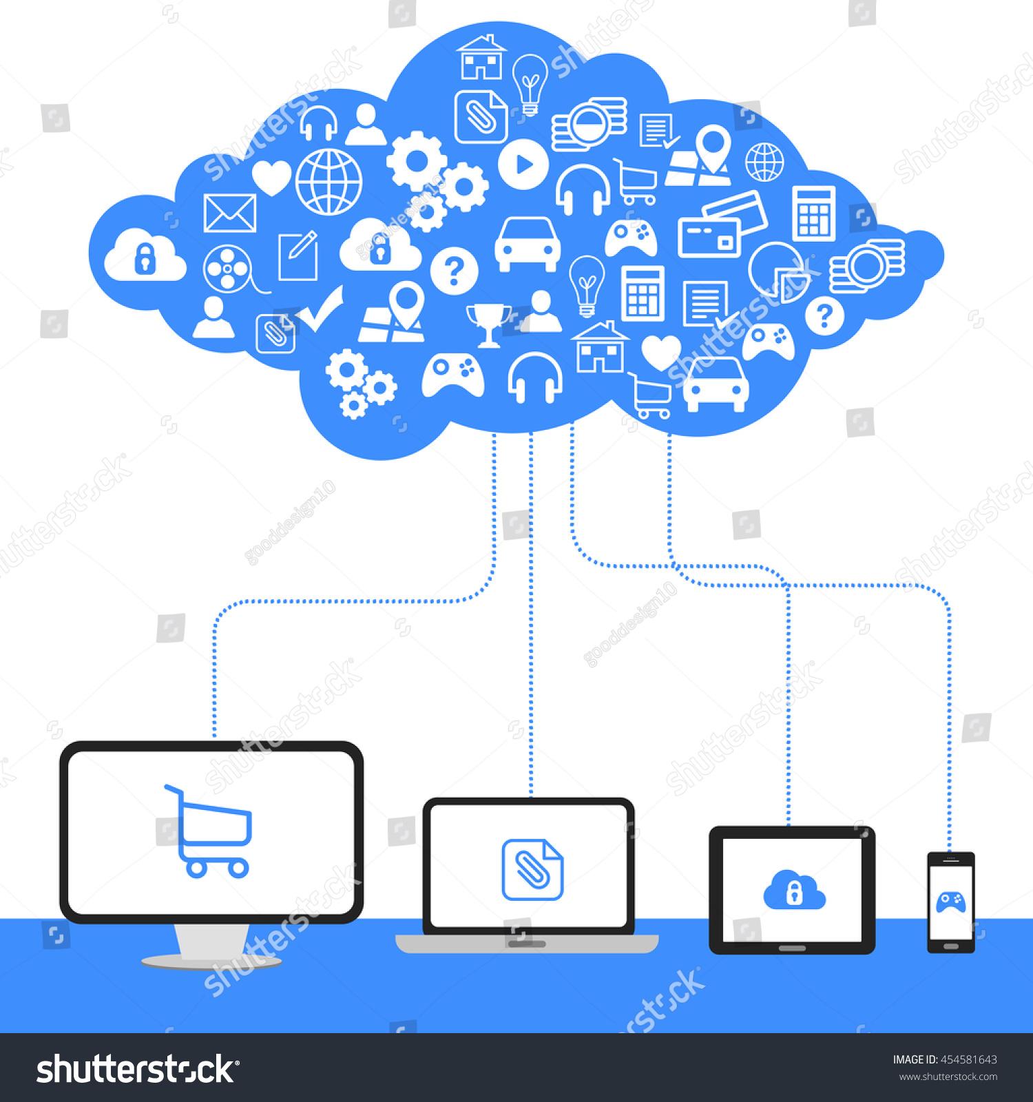 Edit Vectors Free Online - Cloud computing, | Shutterstock ...