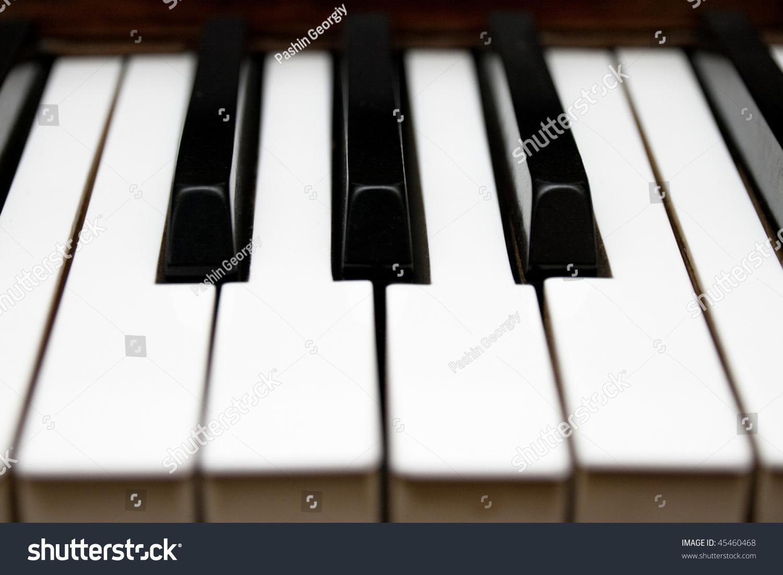 Piano Keys Black White Small Dof Stock Photo (Edit Now