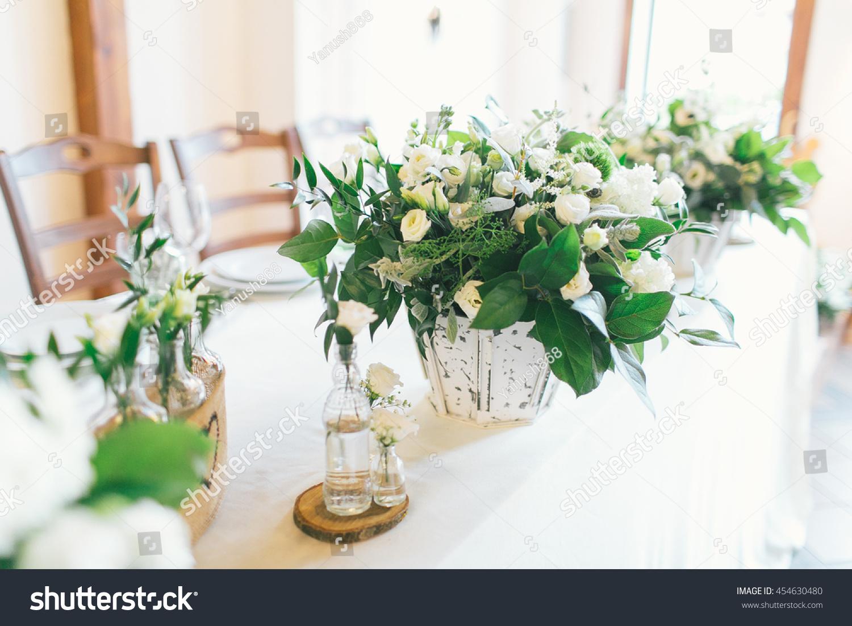 Wedding Centerpiece Ideas Stock Photo (Royalty Free) 454630480 ...