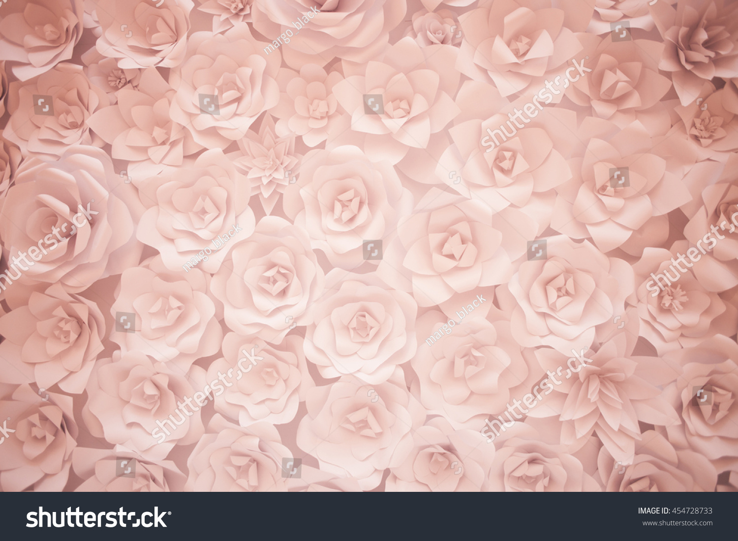 Decorative Background From White Paper Flowers Ez Canvas