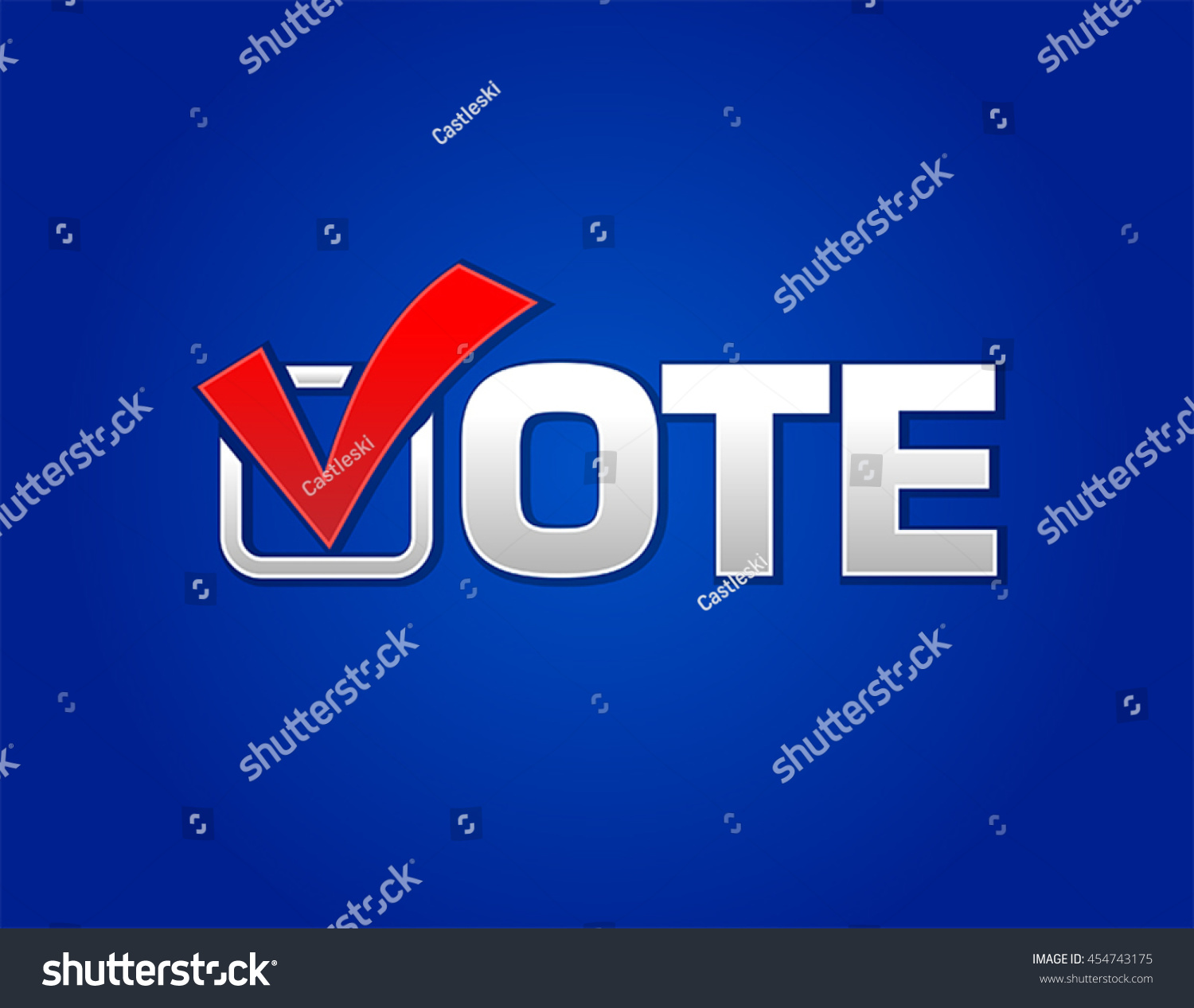 Vote Symbol Tick Box Stock Vector 454743175 Shutterstock