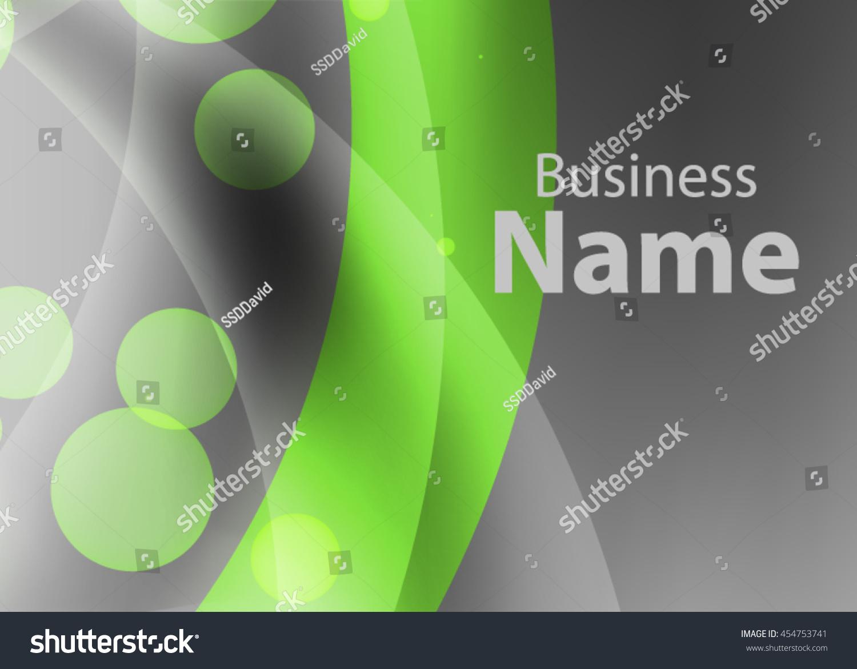 Vector Abstract Creative Business Card Modern Stock Vector 454753741 ...