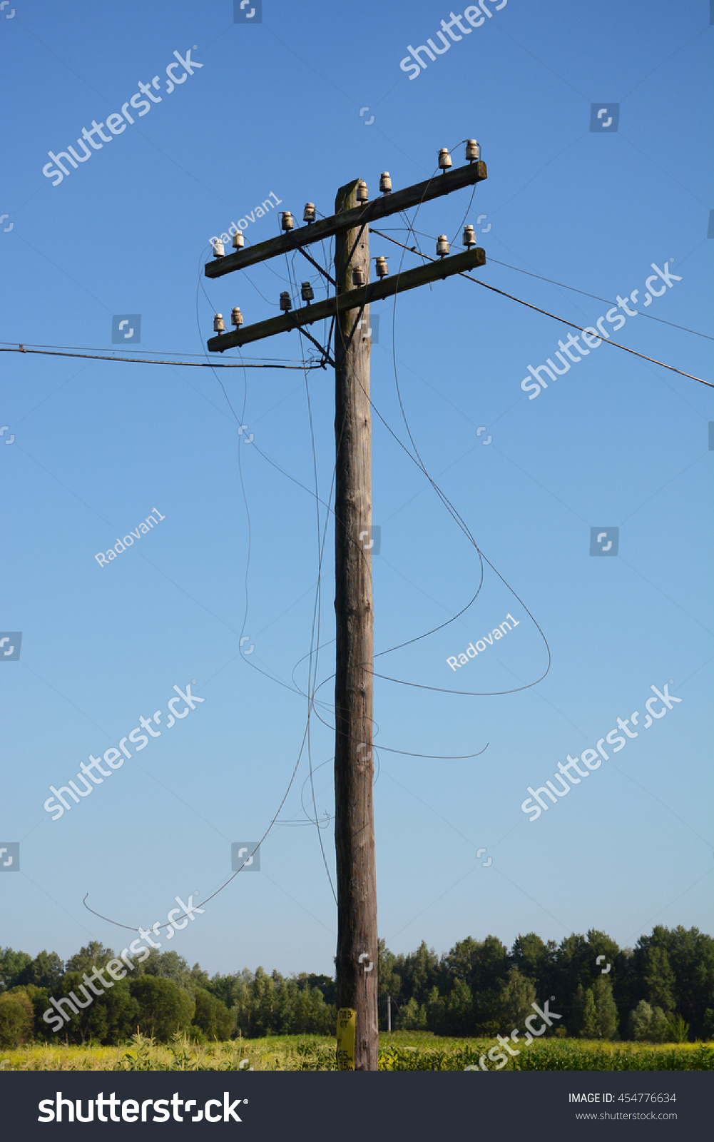 Electric Post Power Pole Wire Breakage Stock Photo (Royalty Free ...