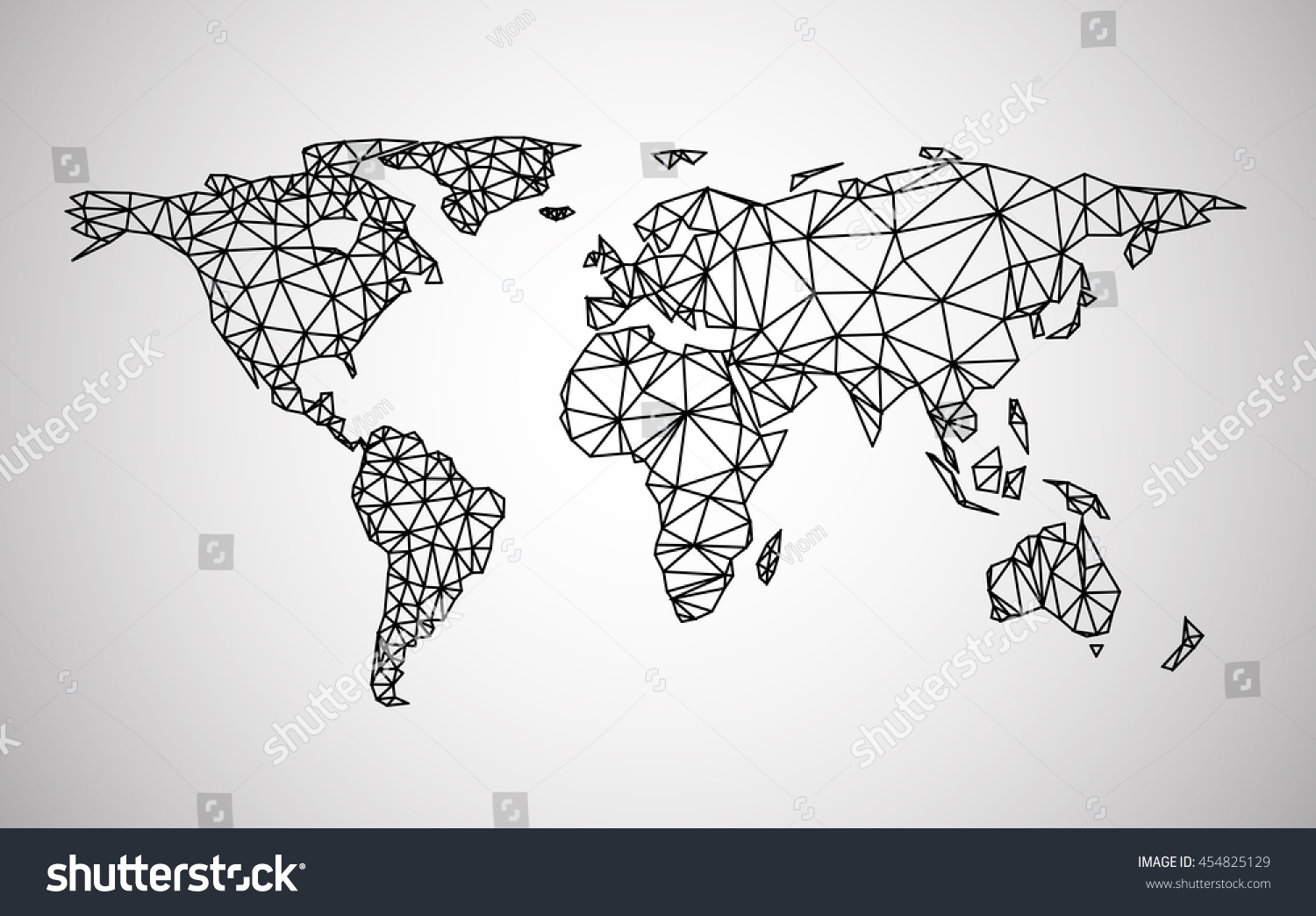 Black abstract world map vector paper stock vector hd royalty free black abstract world map vector paper illustration gumiabroncs Image collections